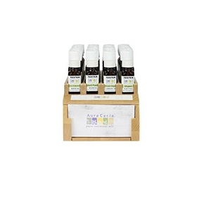 Aura Cacia Essential Oil Blend Display 24 (24x.5 OZ)