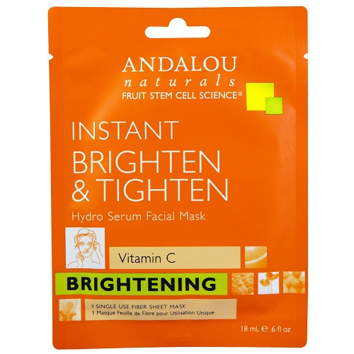 Andalou Naturals Instant Brighten & Tighten Hydro Serum Facial Mask (6x0.6 FZ)