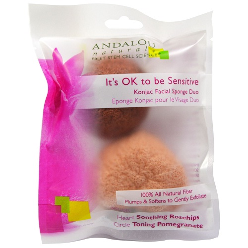 Andalou Naturals It's OK to be Sensitive Konjac Facial Sponge Duo  (6x2 CT)