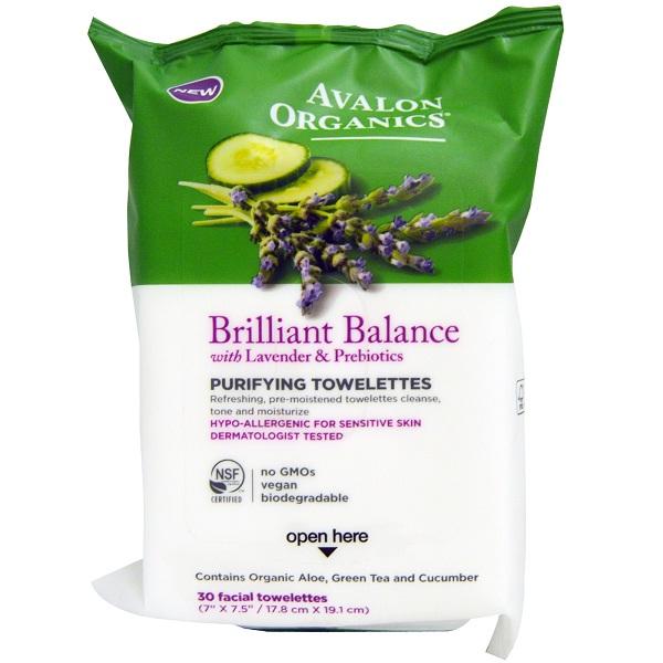 Avalon Organics Brilliant Balance Purifying Towelettes (6x30 CT)