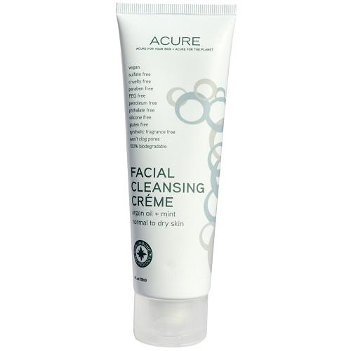 Acure Organics Facial Cleansing Creme Argan Oil + Mint (1x4 FZ)