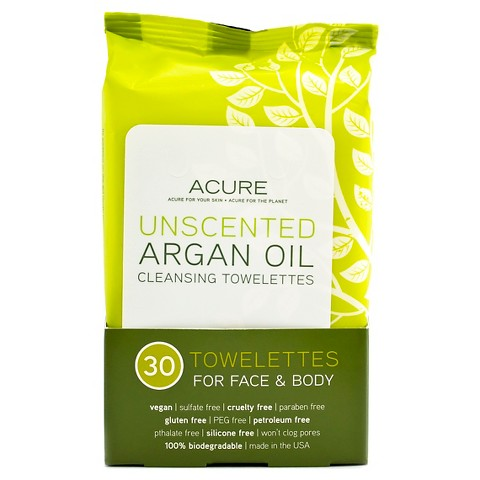 Acure Organics Argan Oil Cleansing Towelettes Unscented (1x30 CT)