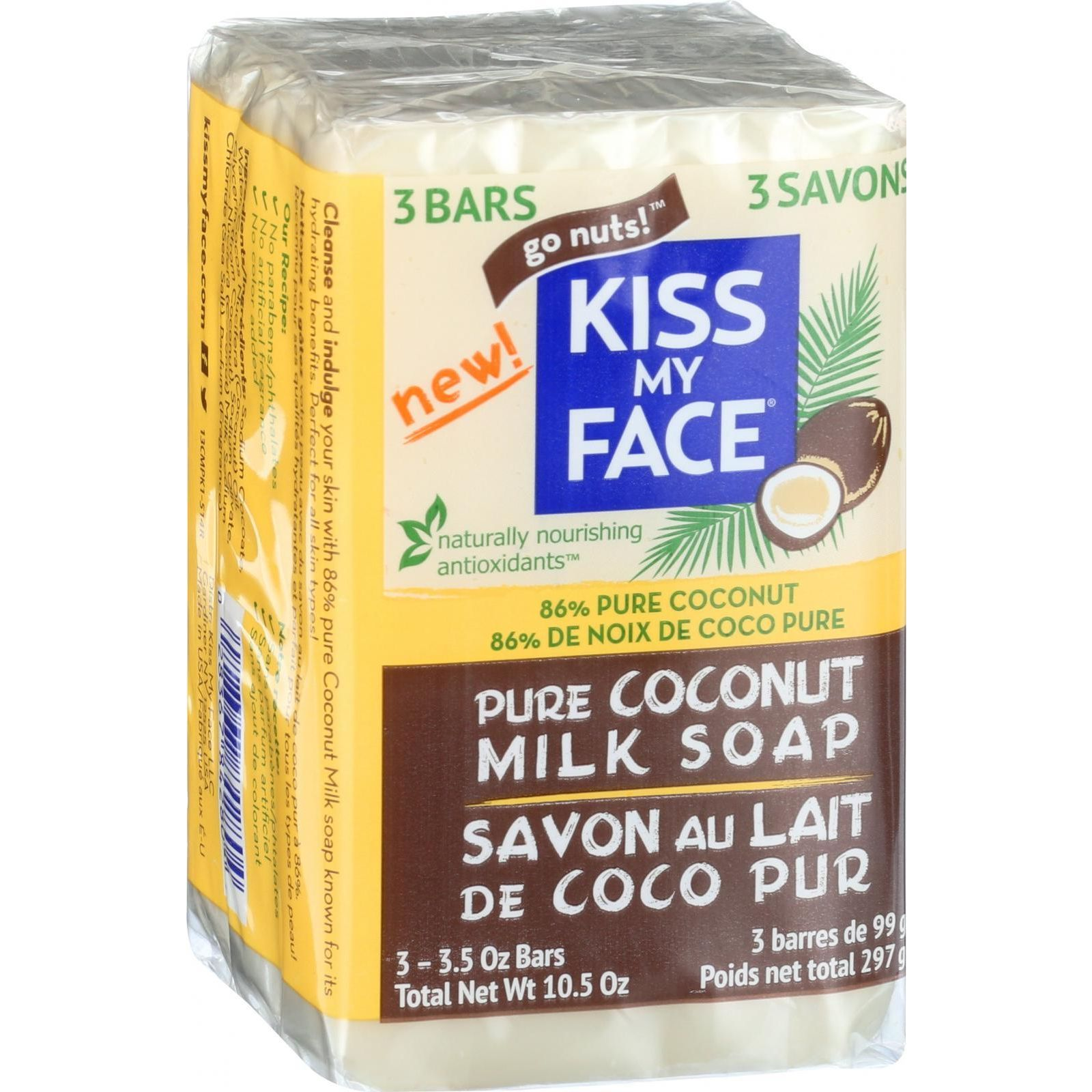 Kiss My Face Bar Soap  Coconut Milk  10.5 oz