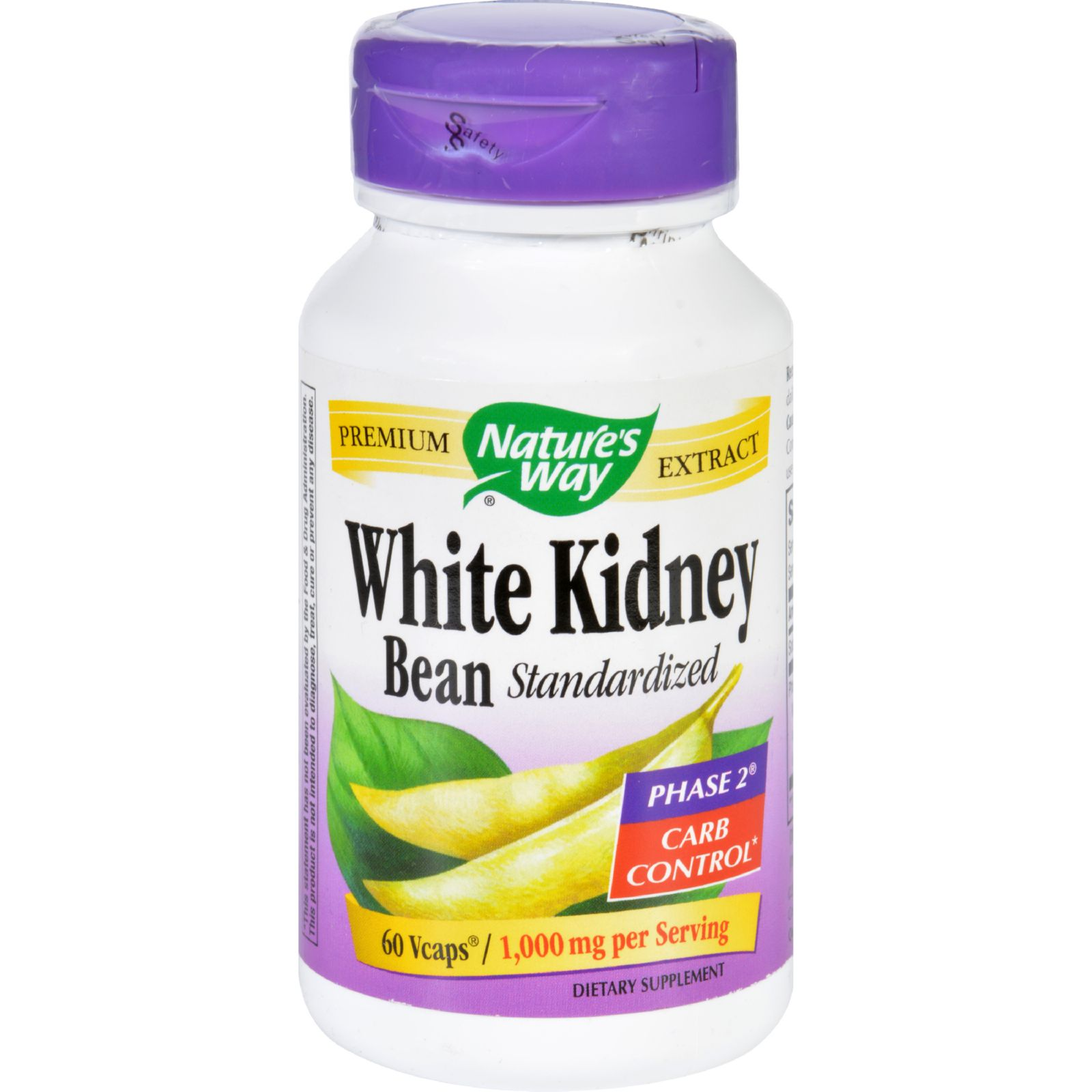 Natures Way White Kidney Bean  60 Vegetarian Capsules