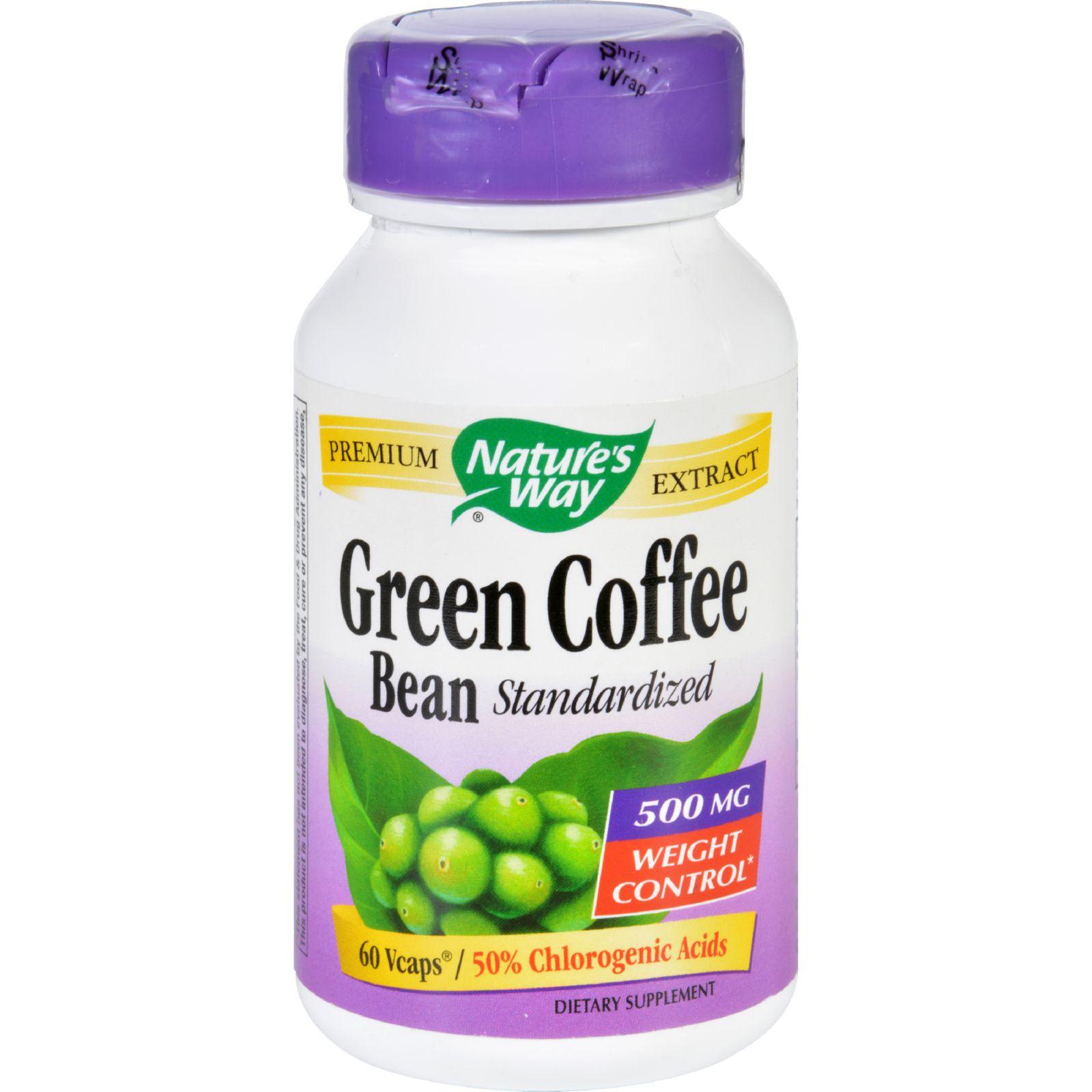 Natures Way Green Coffee Bean  500 mg  60 Vegetarian Capsules