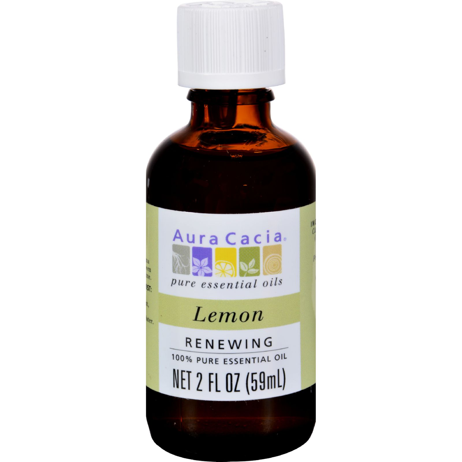 Aura Cacia Essential Oil  Lemon  2 fl oz