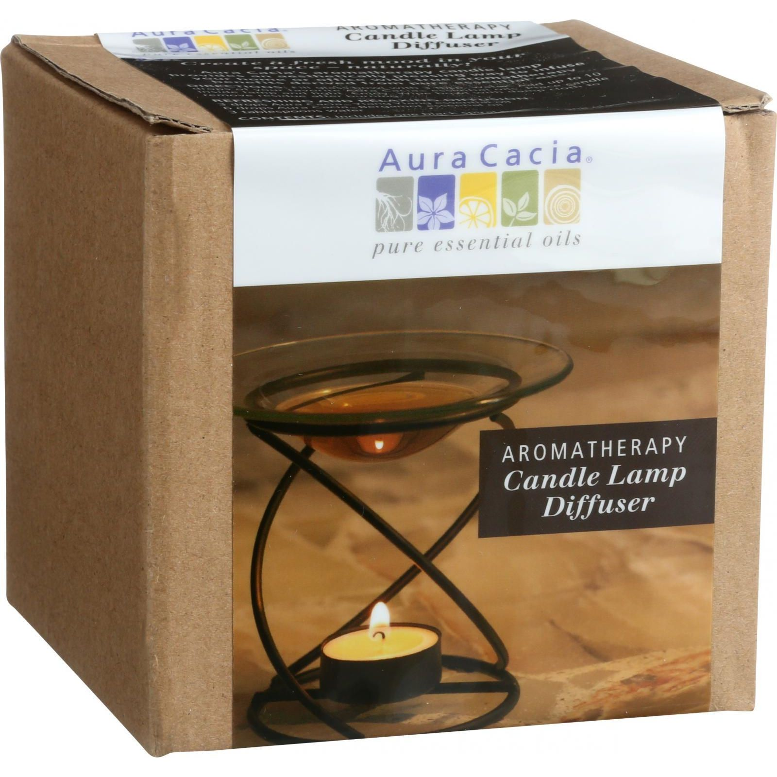 Aura Cacia Spiral Candle Lamp  Black  1 Count