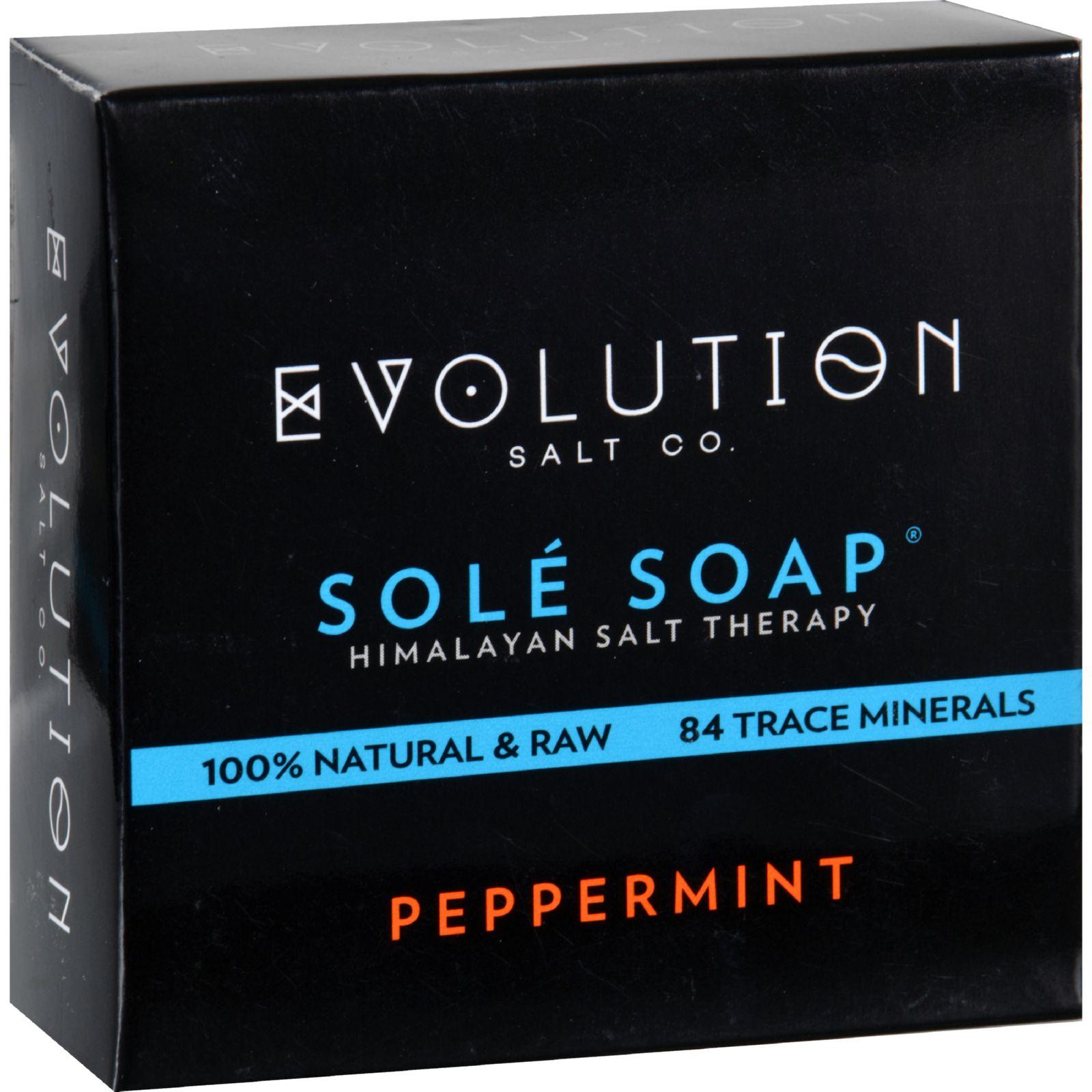 Evolution Salt Bath Soap  Sole  Peppermint  4.5 oz