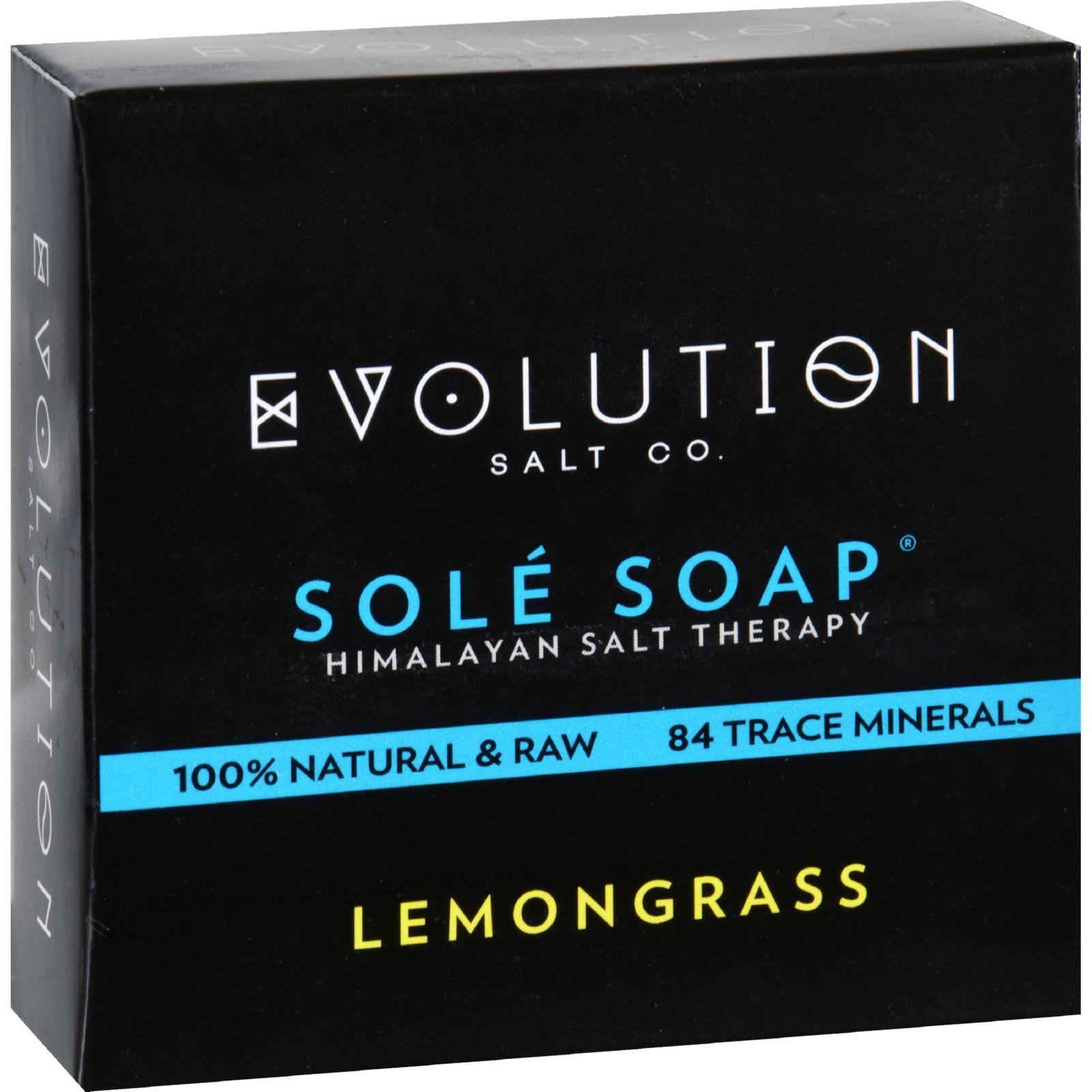 Evolution Salt Bath Soap  Sole  Lemongrass  4.5 oz