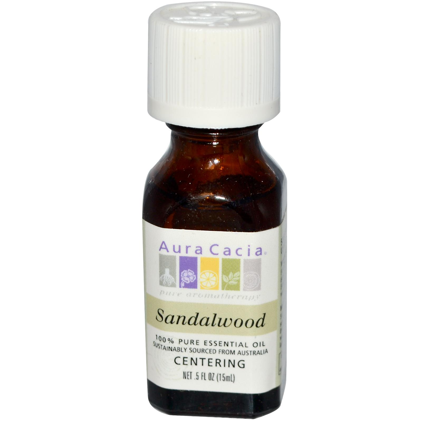 Aura Cacia Sandalwood Essential Oil (1x0.5Oz)