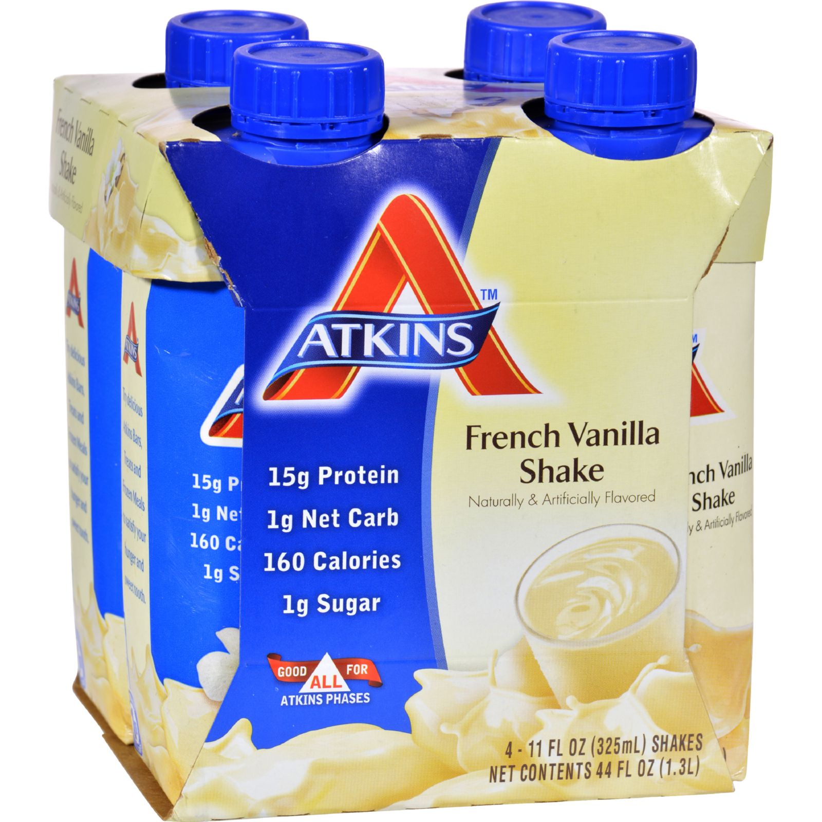 Atkins Advantage RTD Shake French Vanilla  11 fl oz Each / Pack of 4
