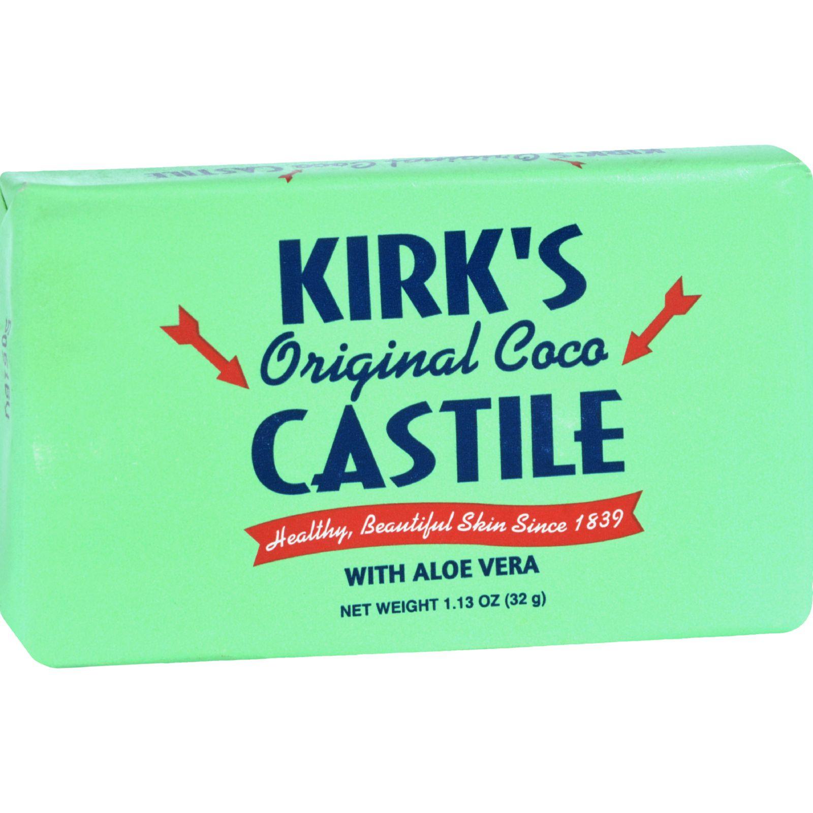 Kirks Natural Bar Soap  Coco Castile  Aloe Vera  Travel Size  1.13 oz