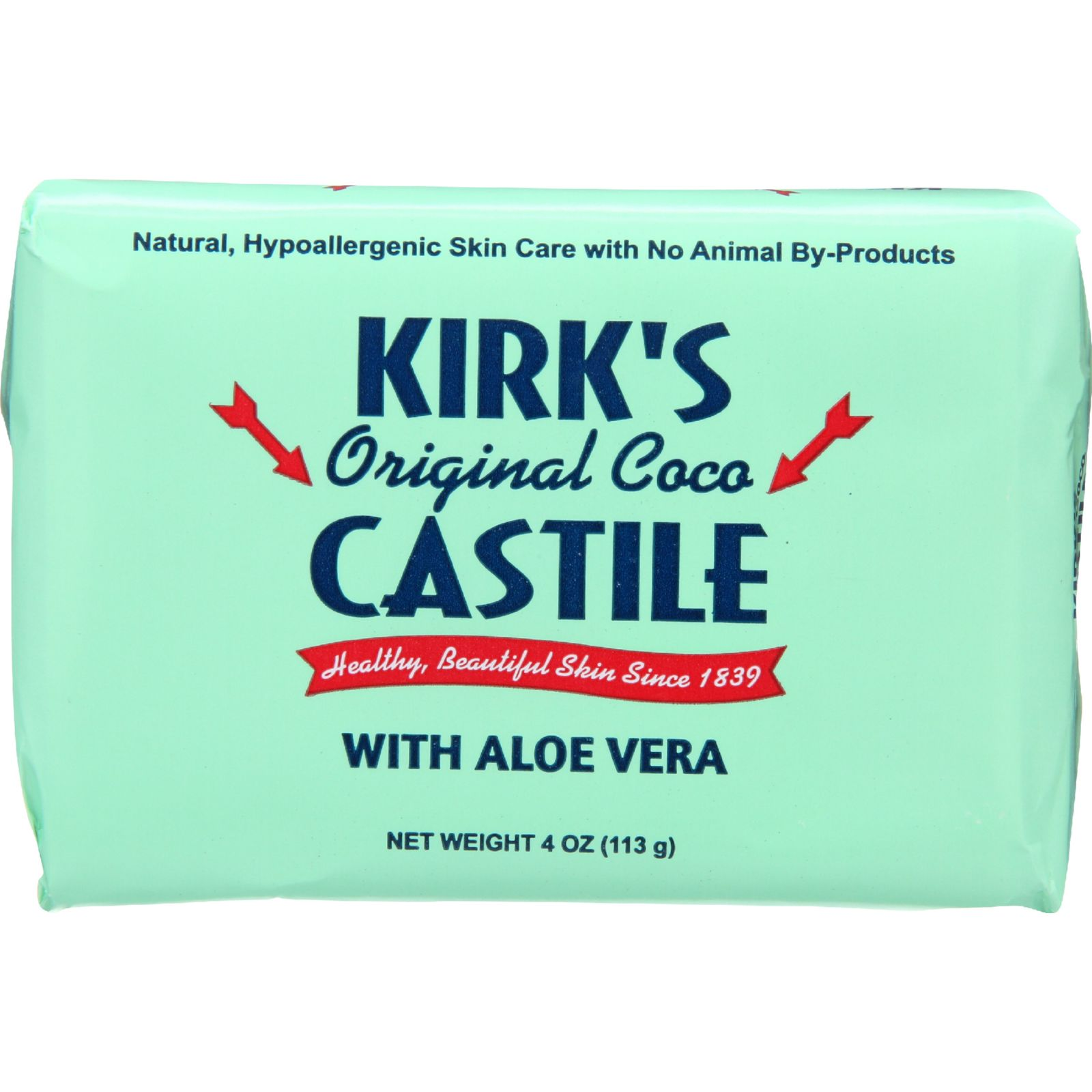 Kirks Natural Bar Soap  Coco Castile  Aloe Vera  4 oz