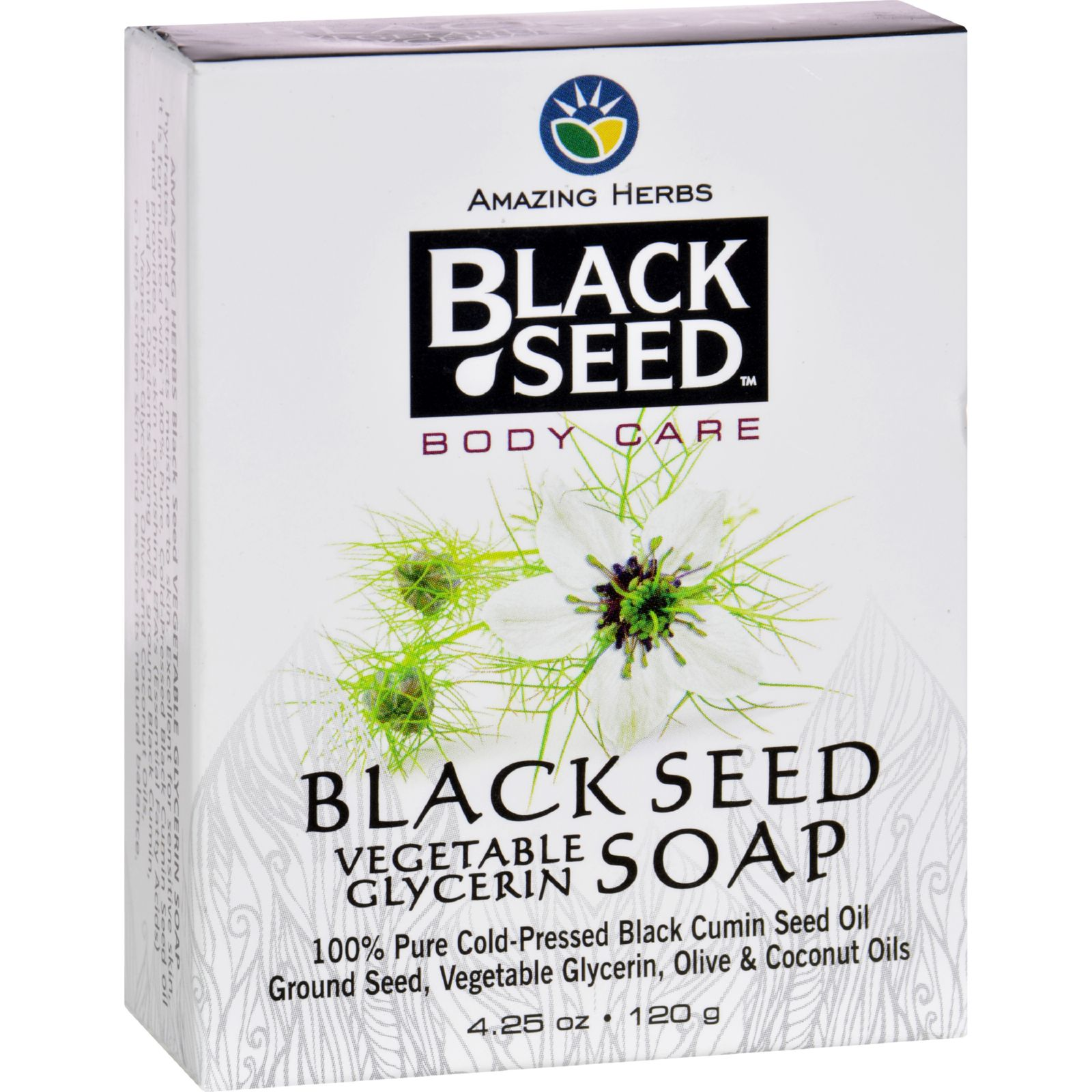 Black Seed Bar Soap  Vegetable Glycerin  4.25 oz