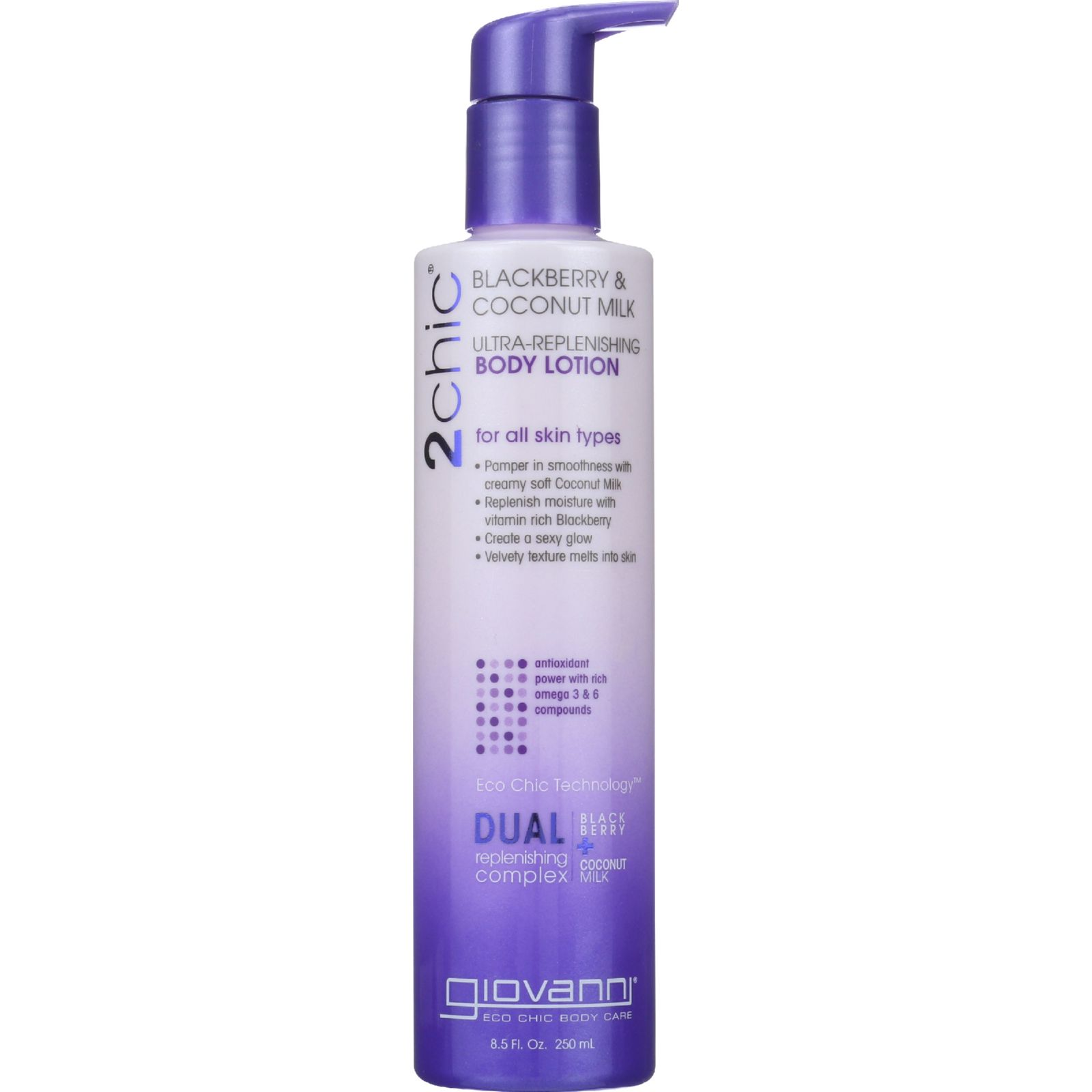 Giovanni Hair Care Products Lotion  2chic  Repairing  Ultra Replenishing  Blackberry and Coconut Milk  8.5 oz