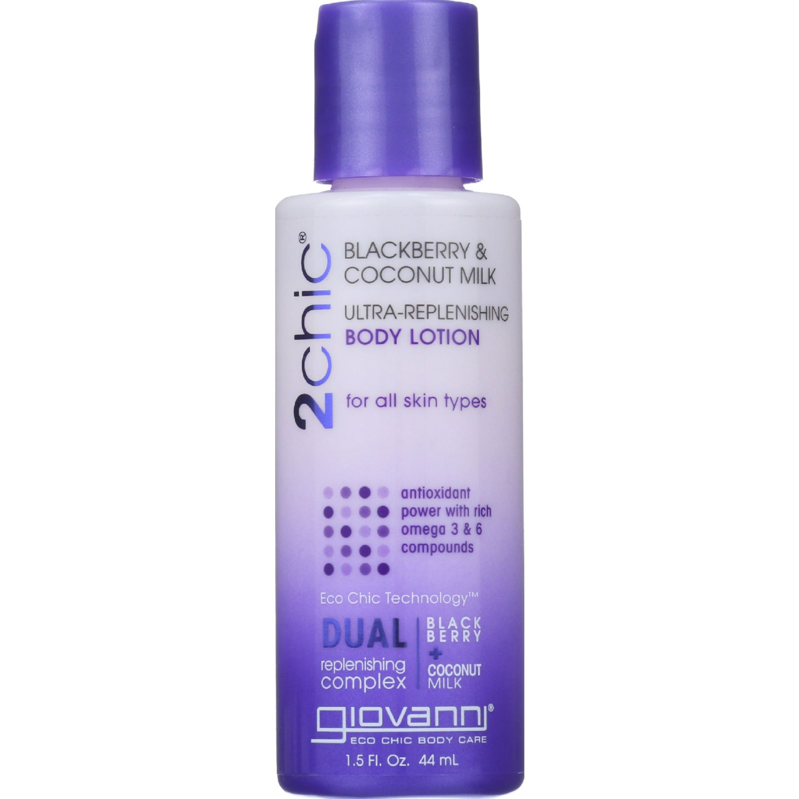 Giovanni Hair Care Products Lotion  2chic  Repairing  Ultra Replenishing  Blackberry and Coconut Milk  1.5 oz