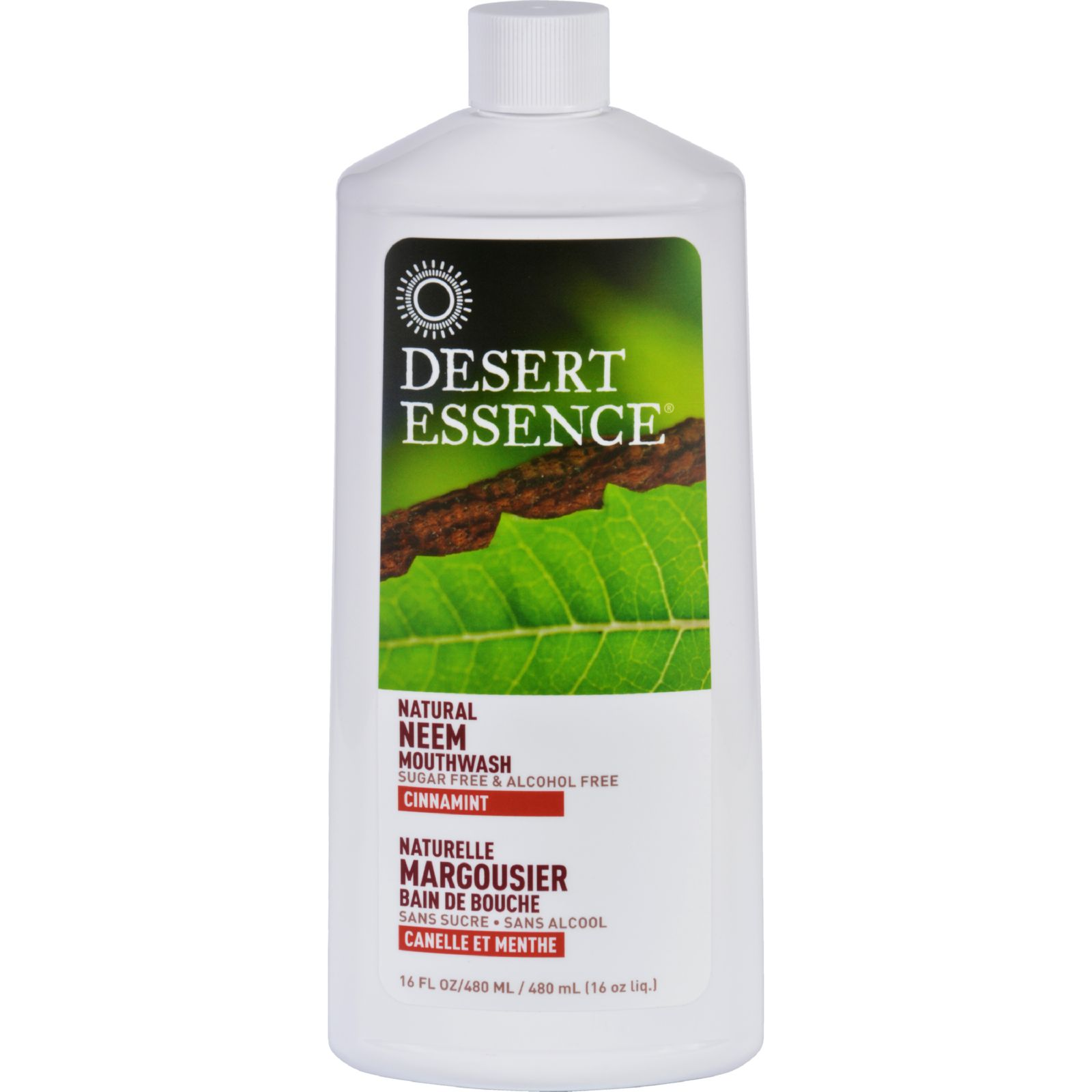 Desert Essence Mouthwash  Natural Neem  Cinnamint  16 oz