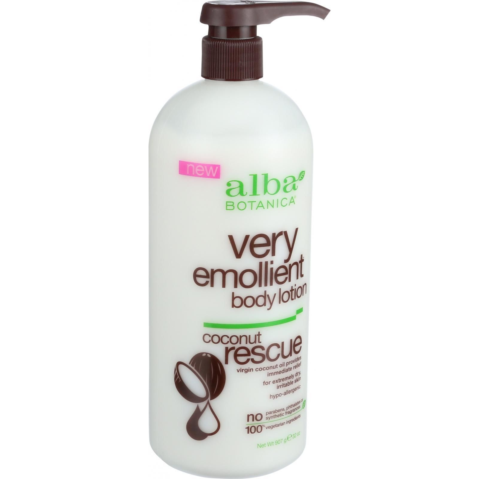 Alba Botanica Body Lotion  Very Emollient  Coconut Rescue  32 oz