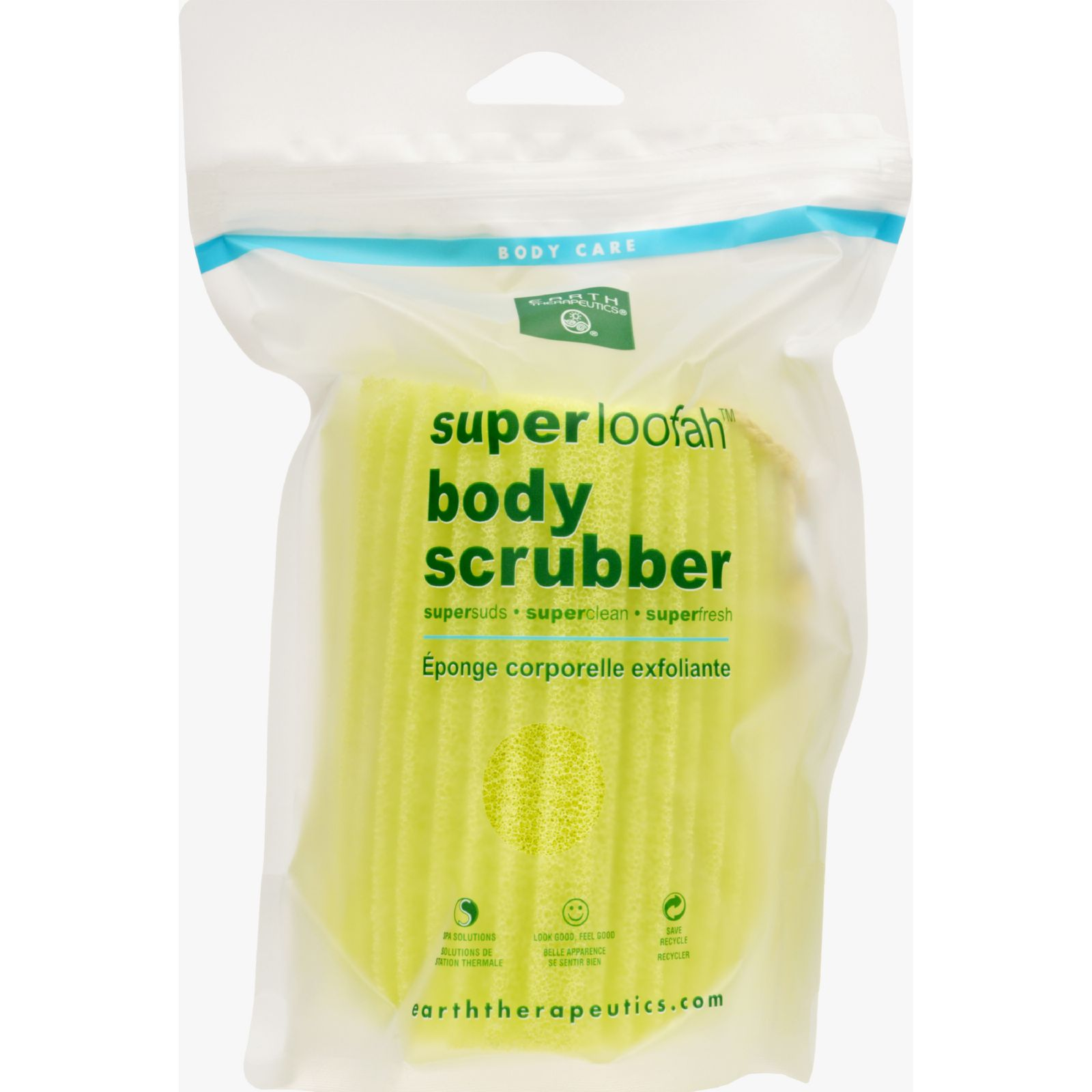 Earth Therapeutics Loofah  Super  Body Scrubber  Green  1 Count