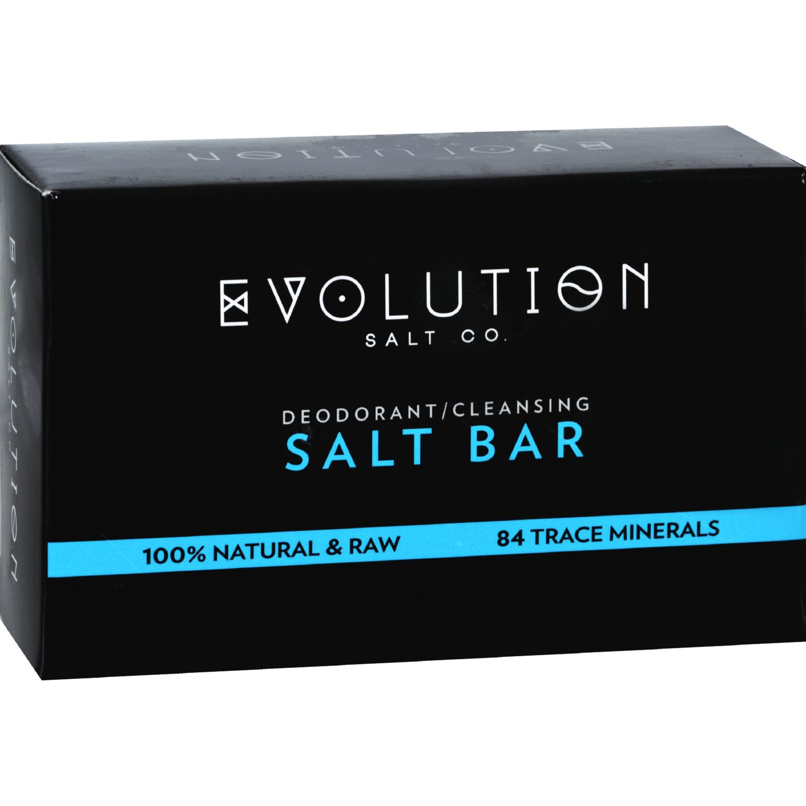 Evolution Salt Crystal Salt Bar  Deodorant Cleansing  9 oz