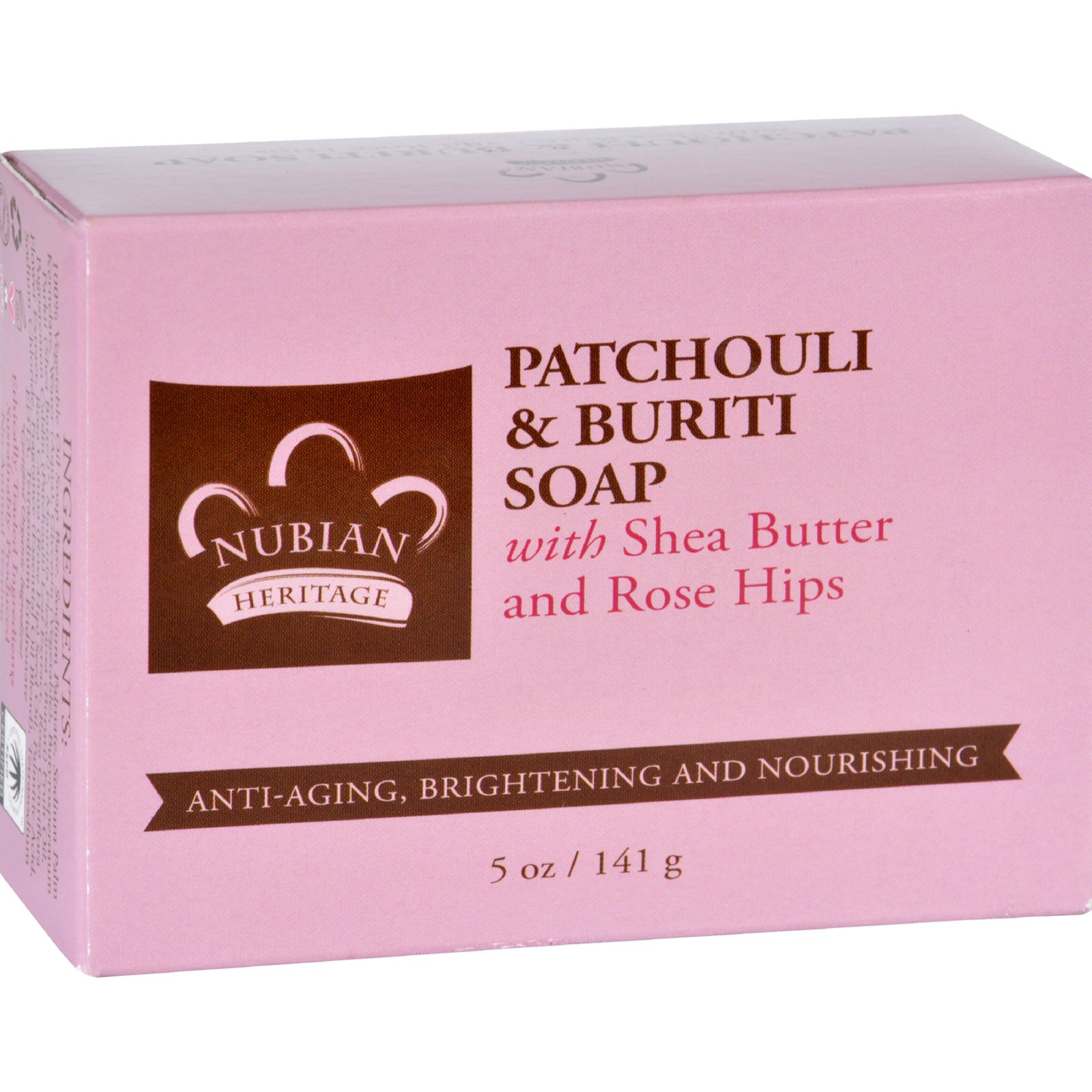 Nubian Heritage Bar Soap  Patchouli and Buriti  5 oz