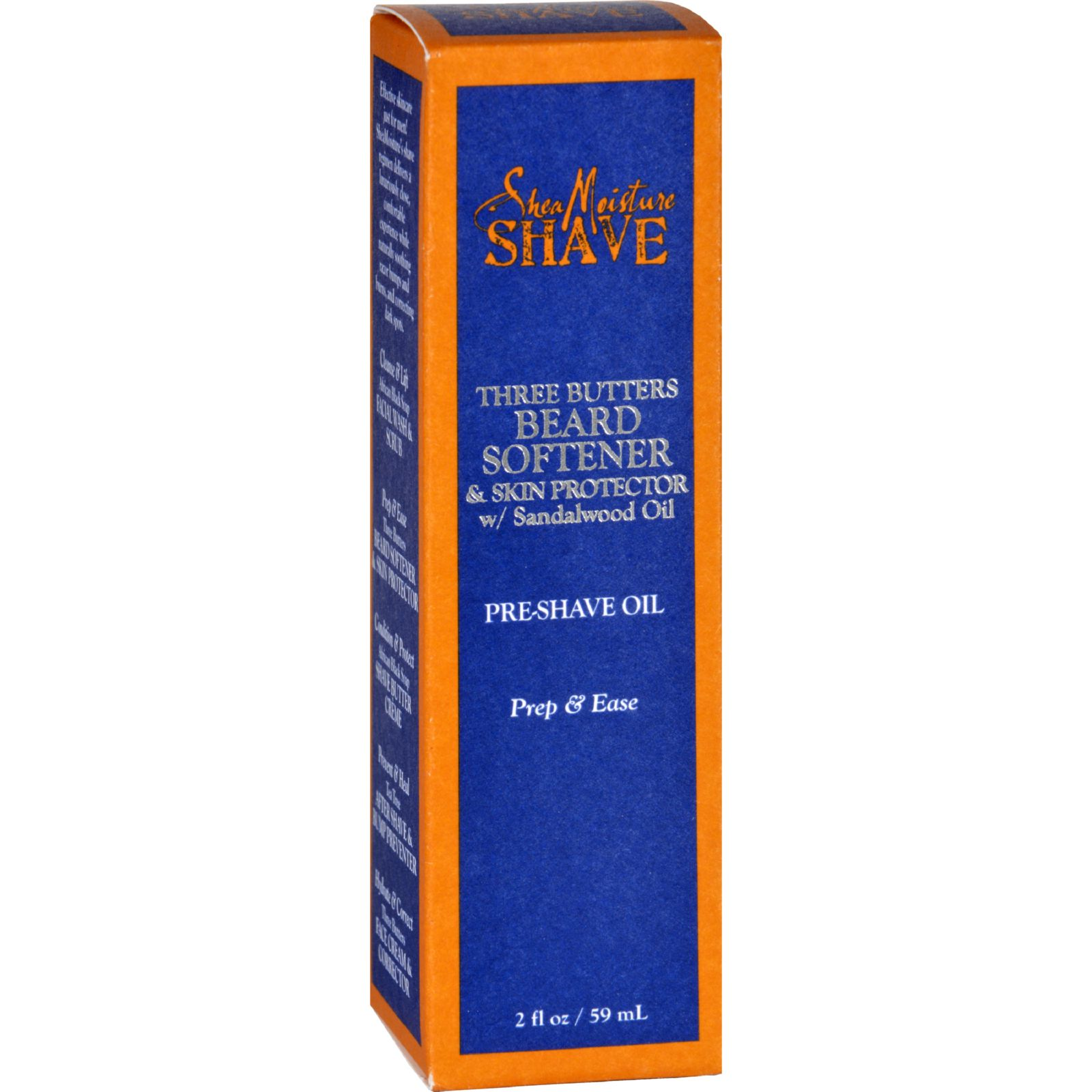 SheaMoisture Pre Shave Oil  Beard Softener and Skin Protector  Three Butters  Men  2 oz