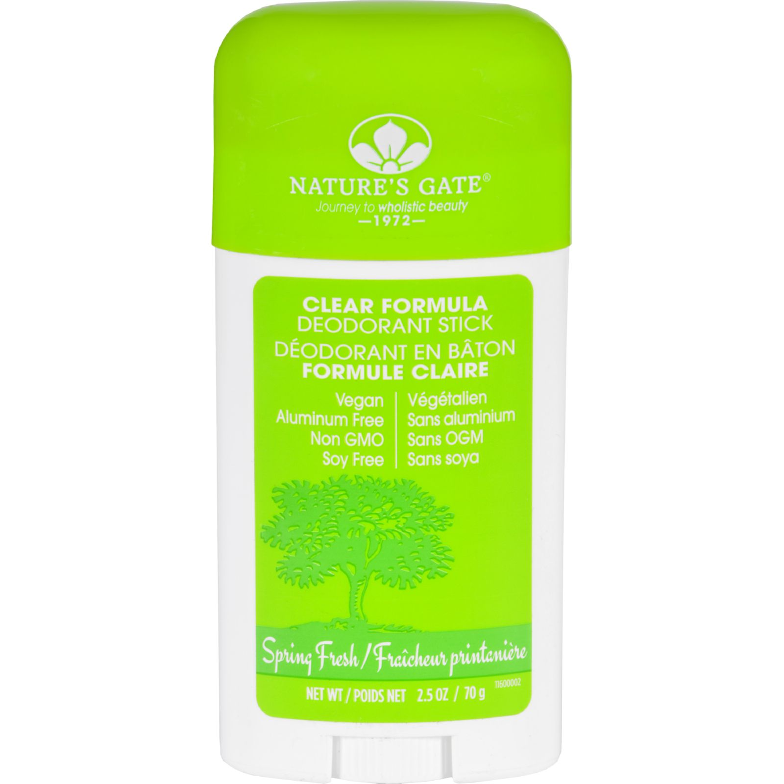 Natures Gate Deodorant  Stick  Clear Formula  Spring Fresh  2.5 oz