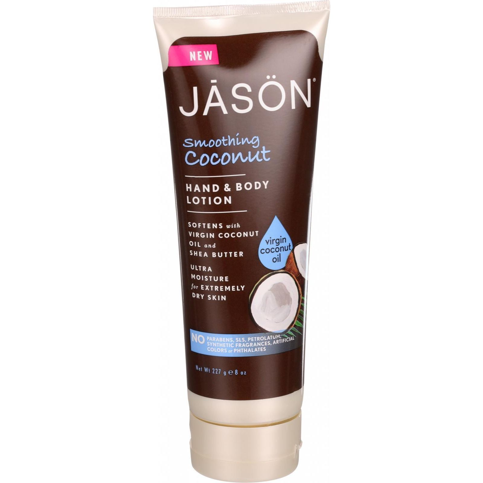 Jason Natural Products Hand and Body Lotion  Smoothing Coconut  8 oz