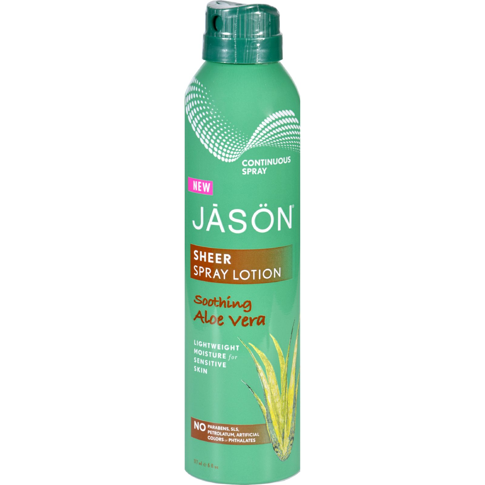 Jason Natural Products Spray Lotion  Sheer  Soothing Aloe Vera  6 oz