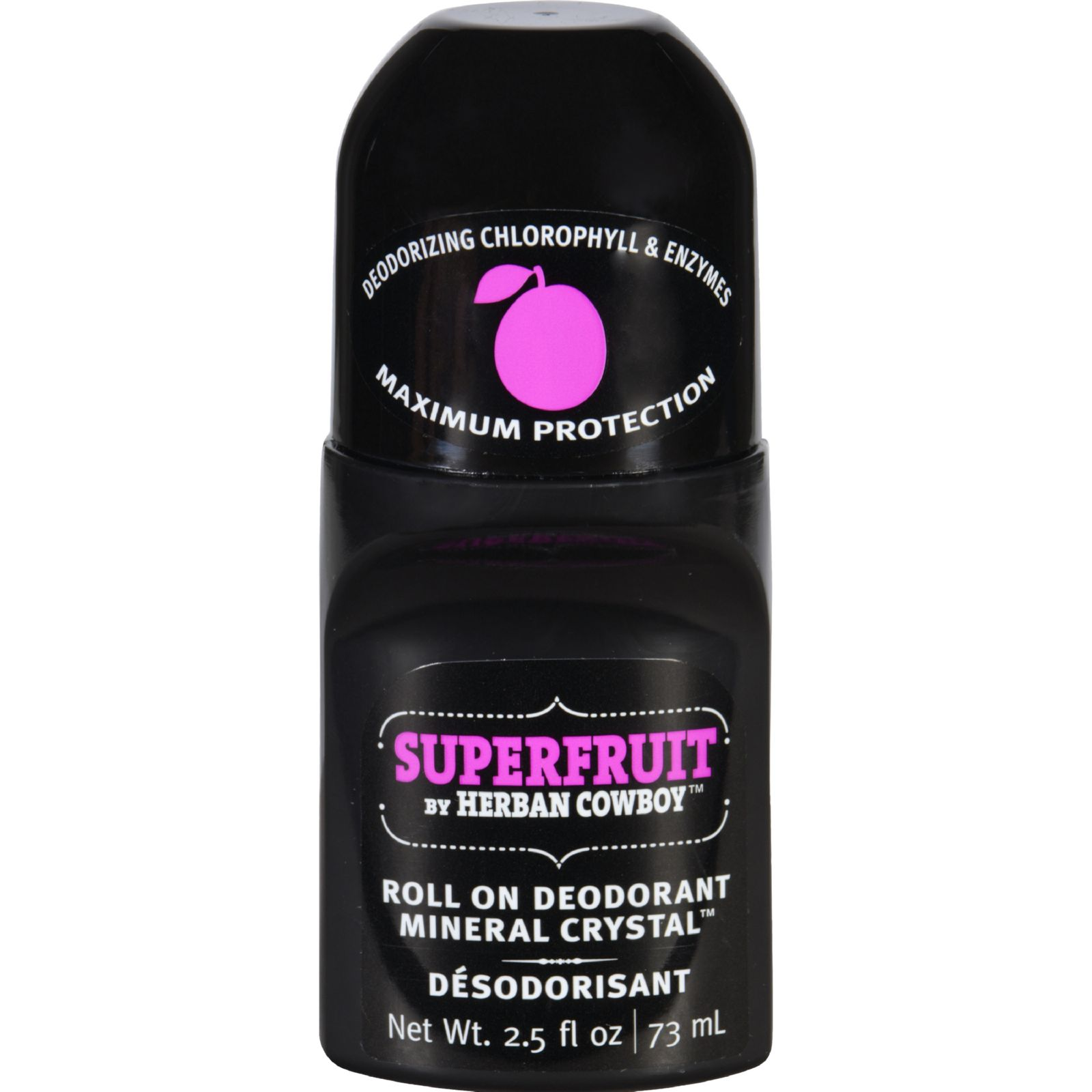 Herban Cowboy Deodorant  Roll On  Superfruit  2.5 oz