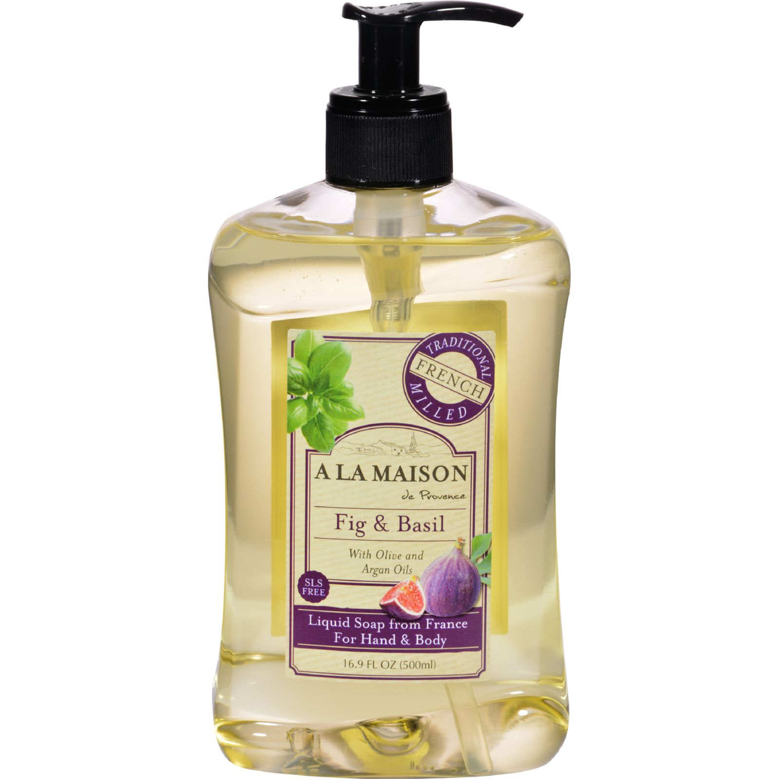 A La Maison French Liquid Soap  Fig and Basil  16 oz