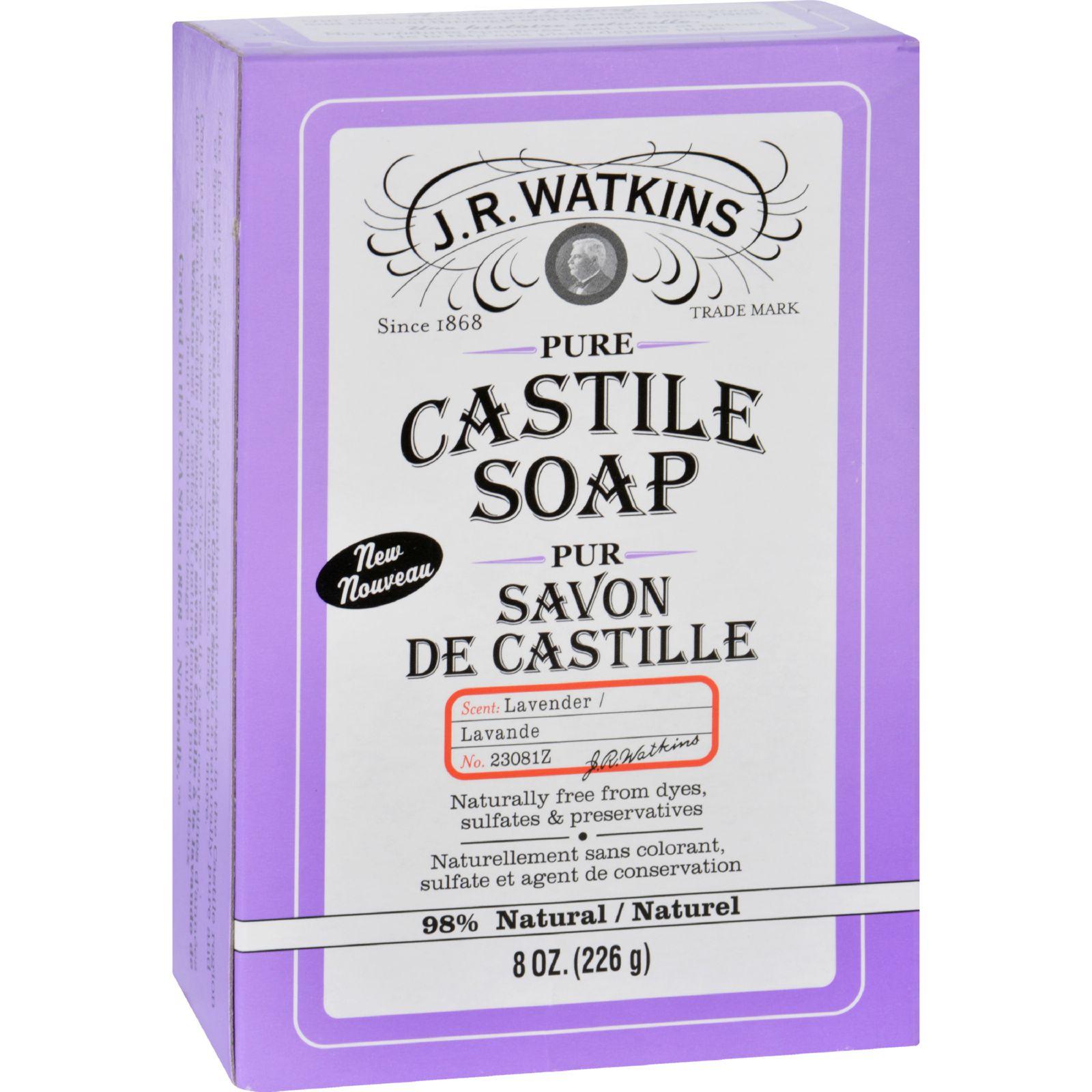 J.R. Watkins Bar Soap  Castile  Lavender  8 oz