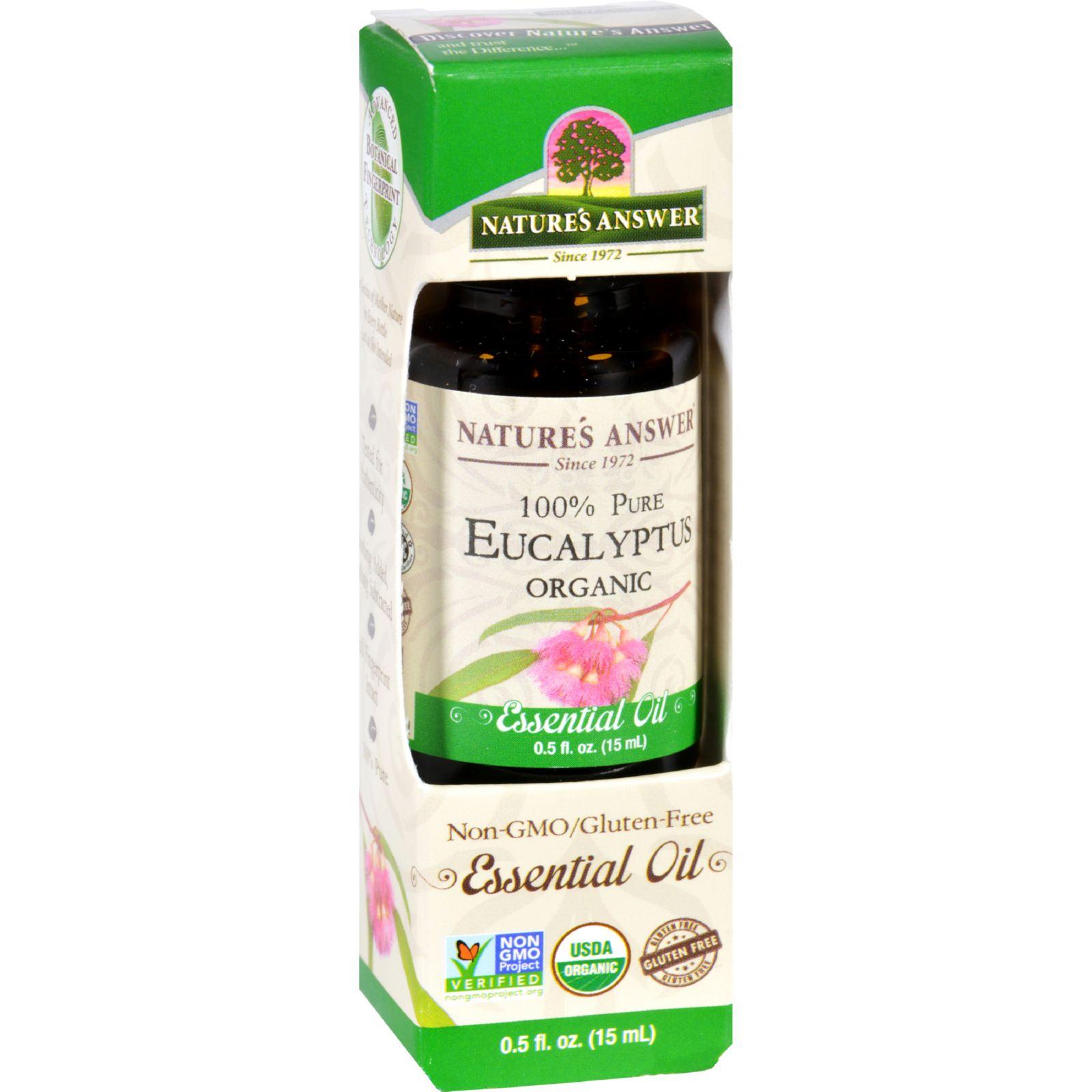 Natures Answer Essential Oil  Organic  Eucalyptus  .5 oz