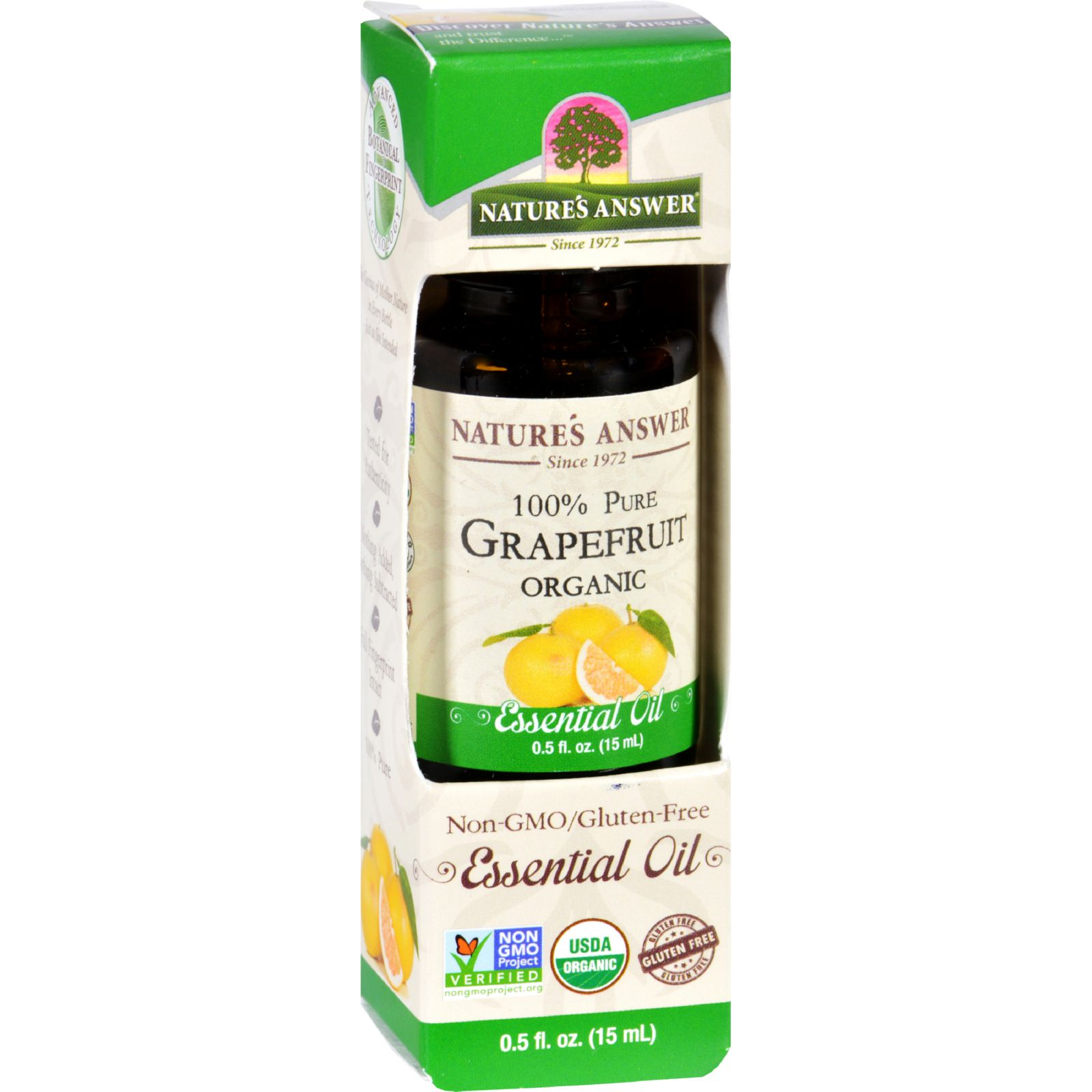 Natures Answer Essential Oil  Organic  Grapefruit  .5 oz