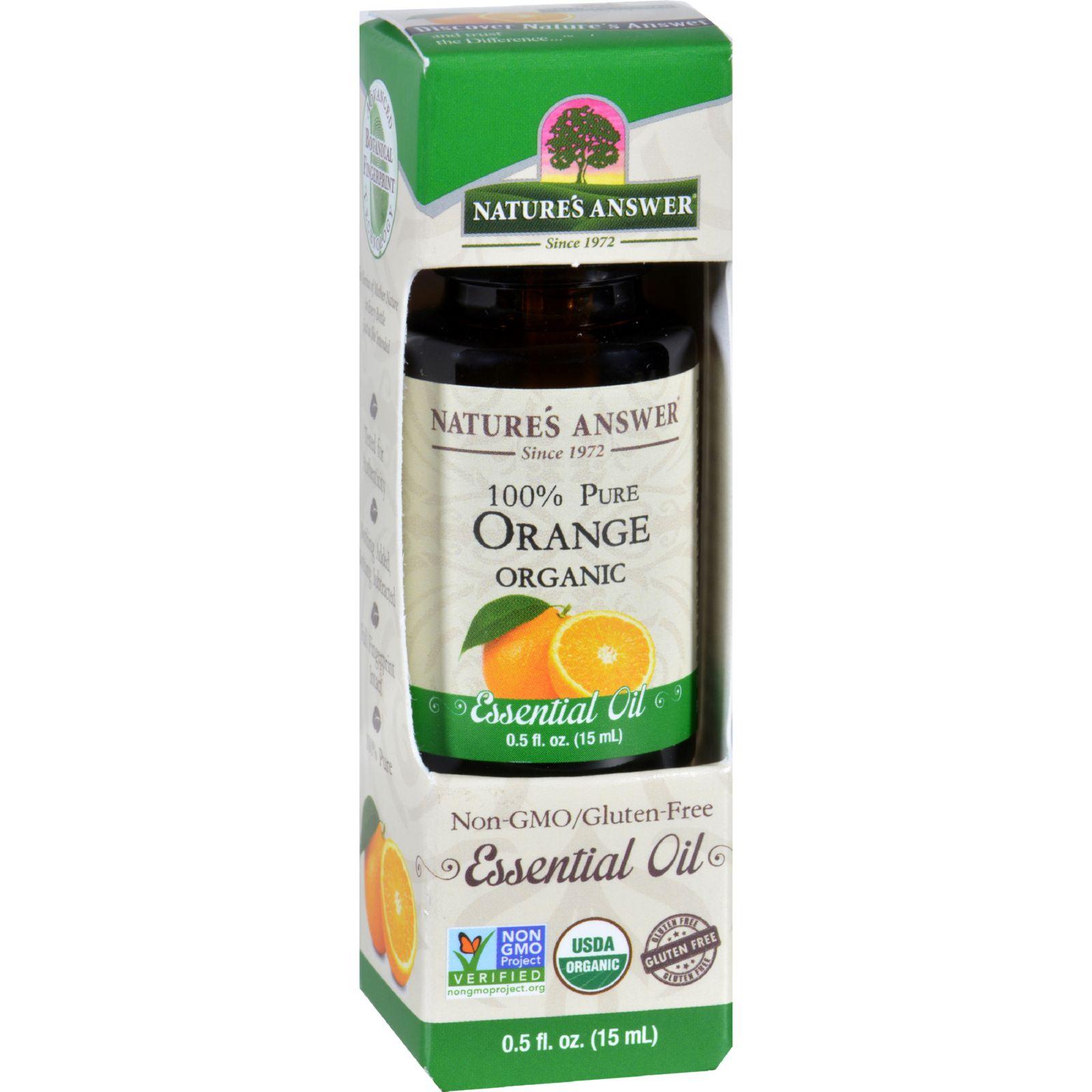 Natures Answer Essential Oil  Organic  Orange  .5 oz