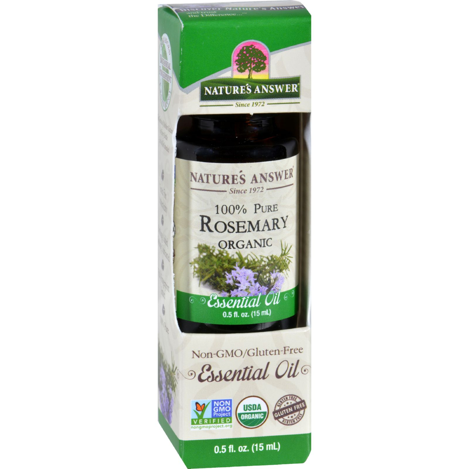 Natures Answer Essential Oil  Organic  Rosemary  .5 oz