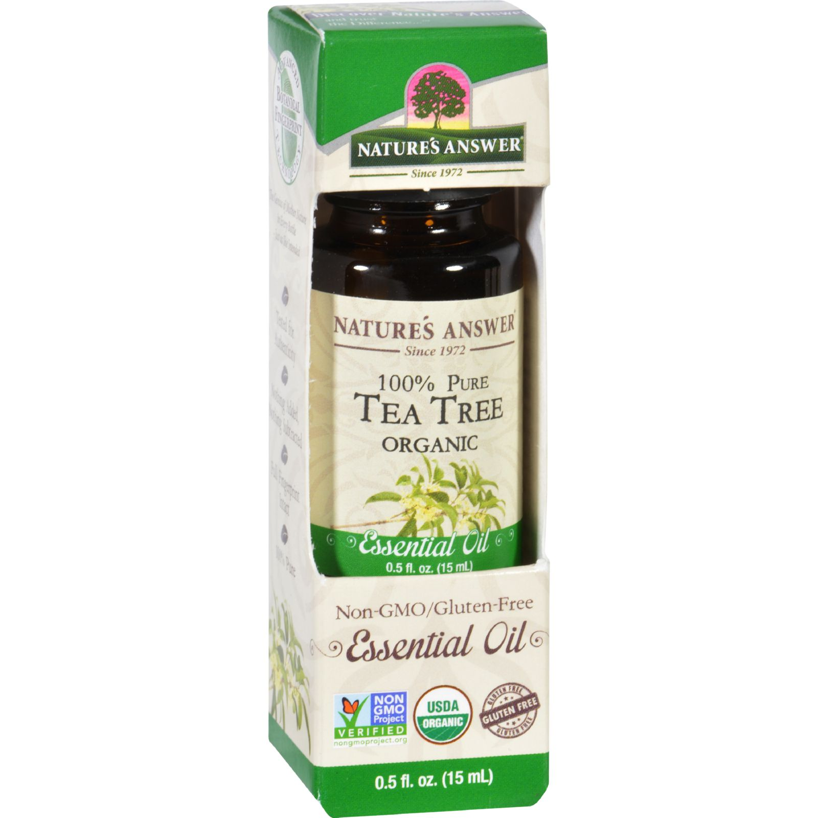 Natures Answer Essential Oil  Organic  Tea Tree  .5 oz