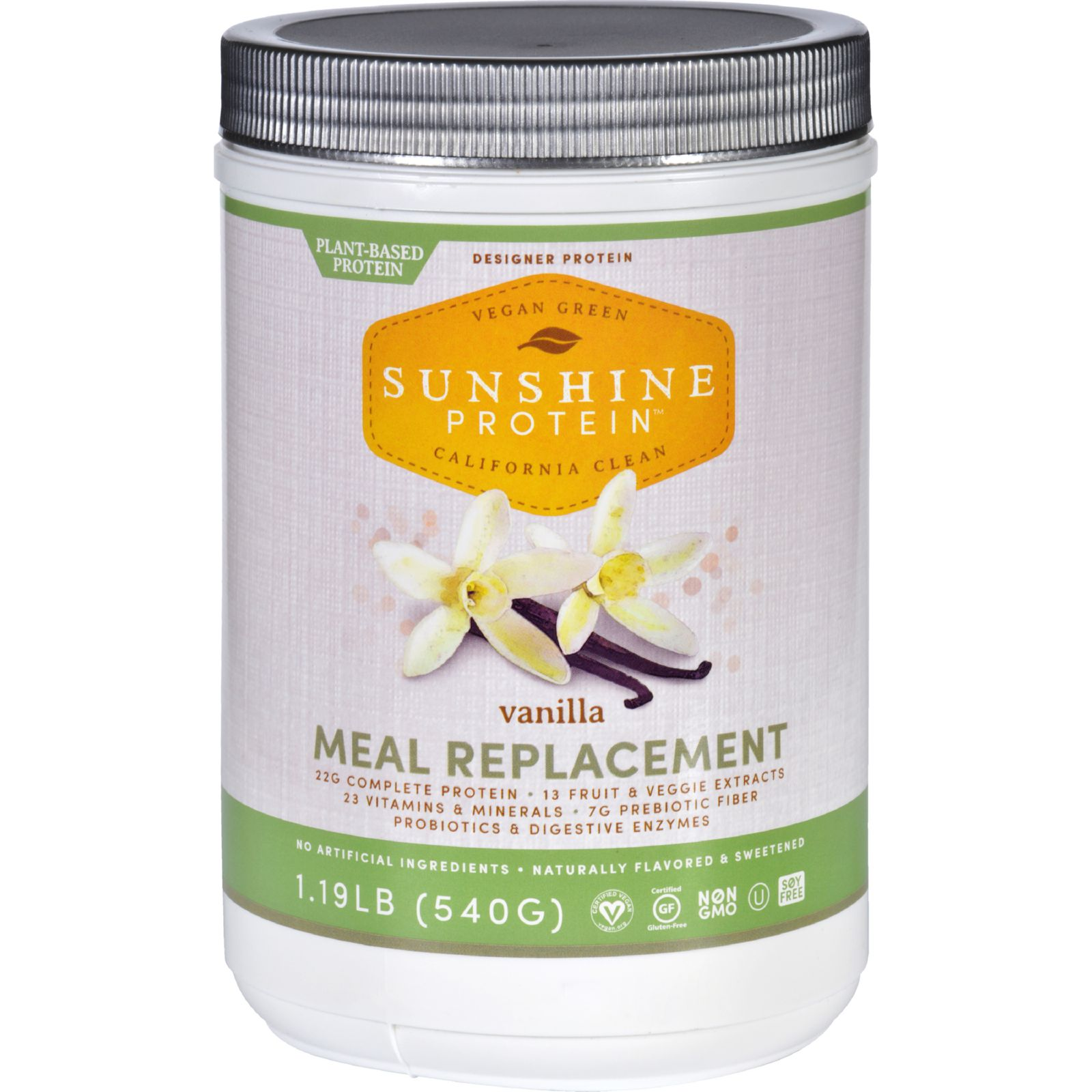 Sunshine Protein Meal Replacement  Plant Based  Vanilla  1.19 lb