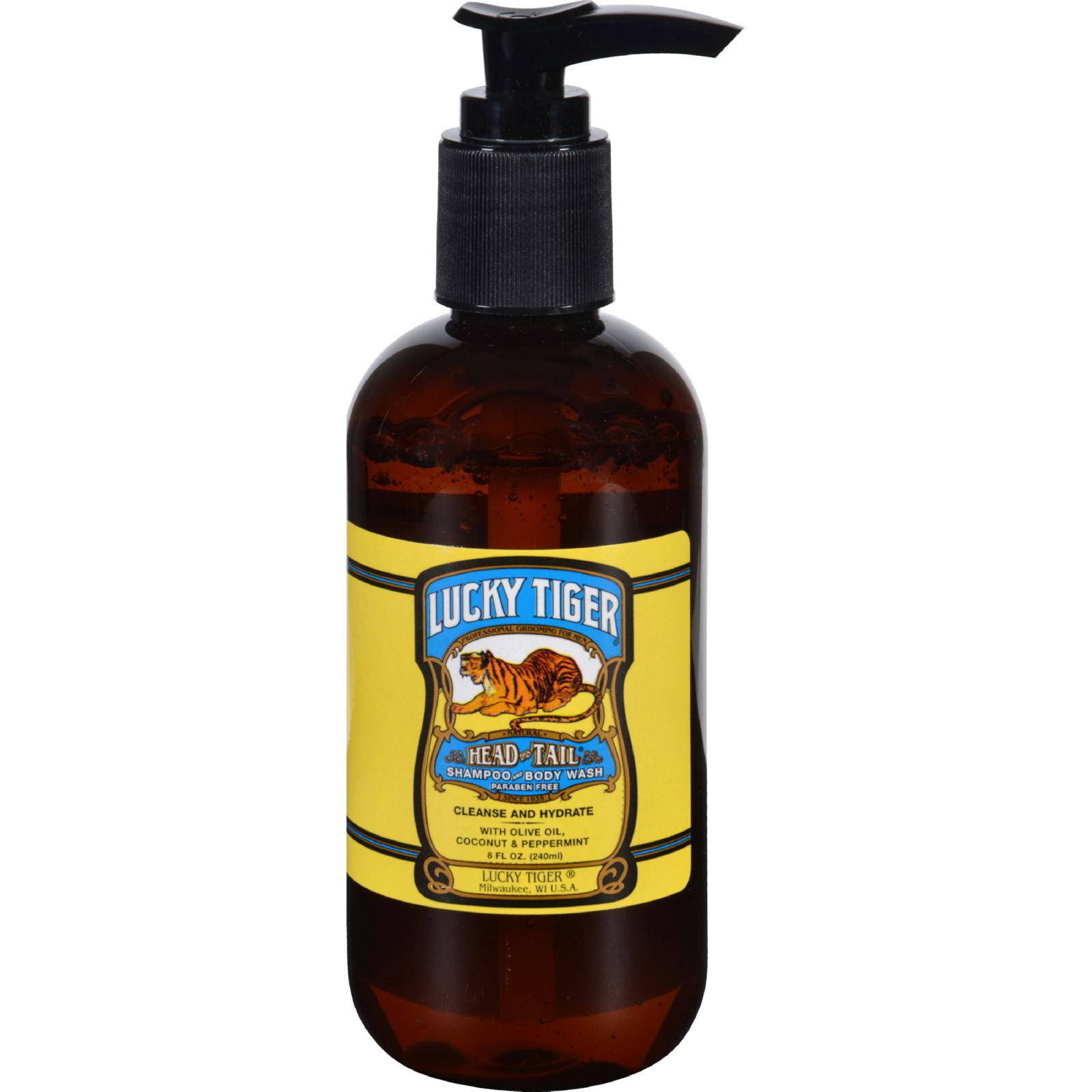Lucky Tiger Shampoo and Body Wash  Head to Tail  8 oz