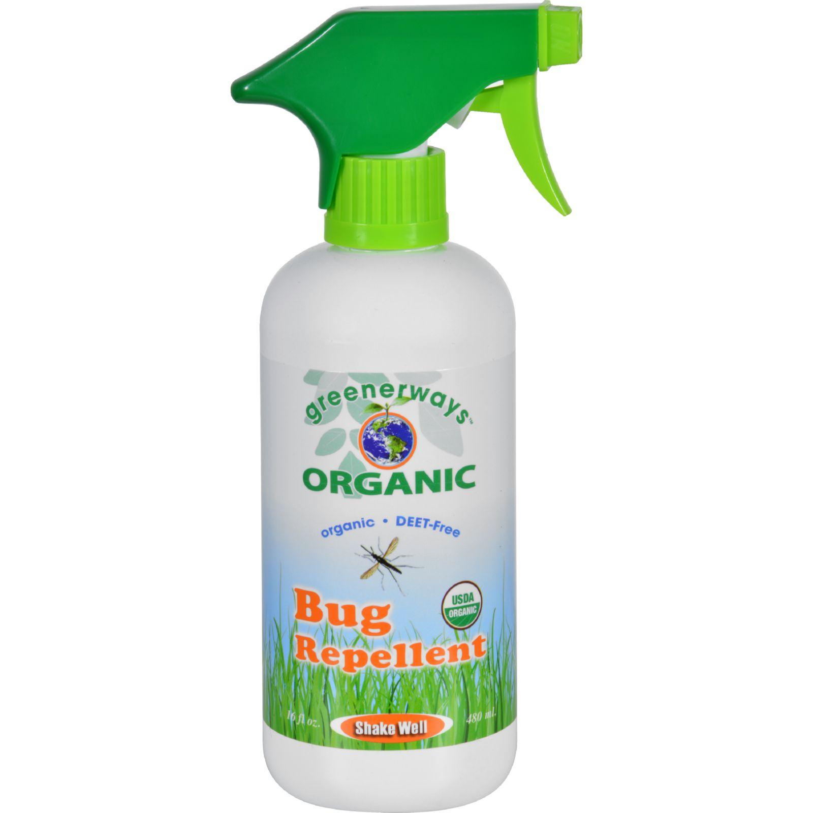 Greenerways Bug Repellent  Organic  Spray  16 oz