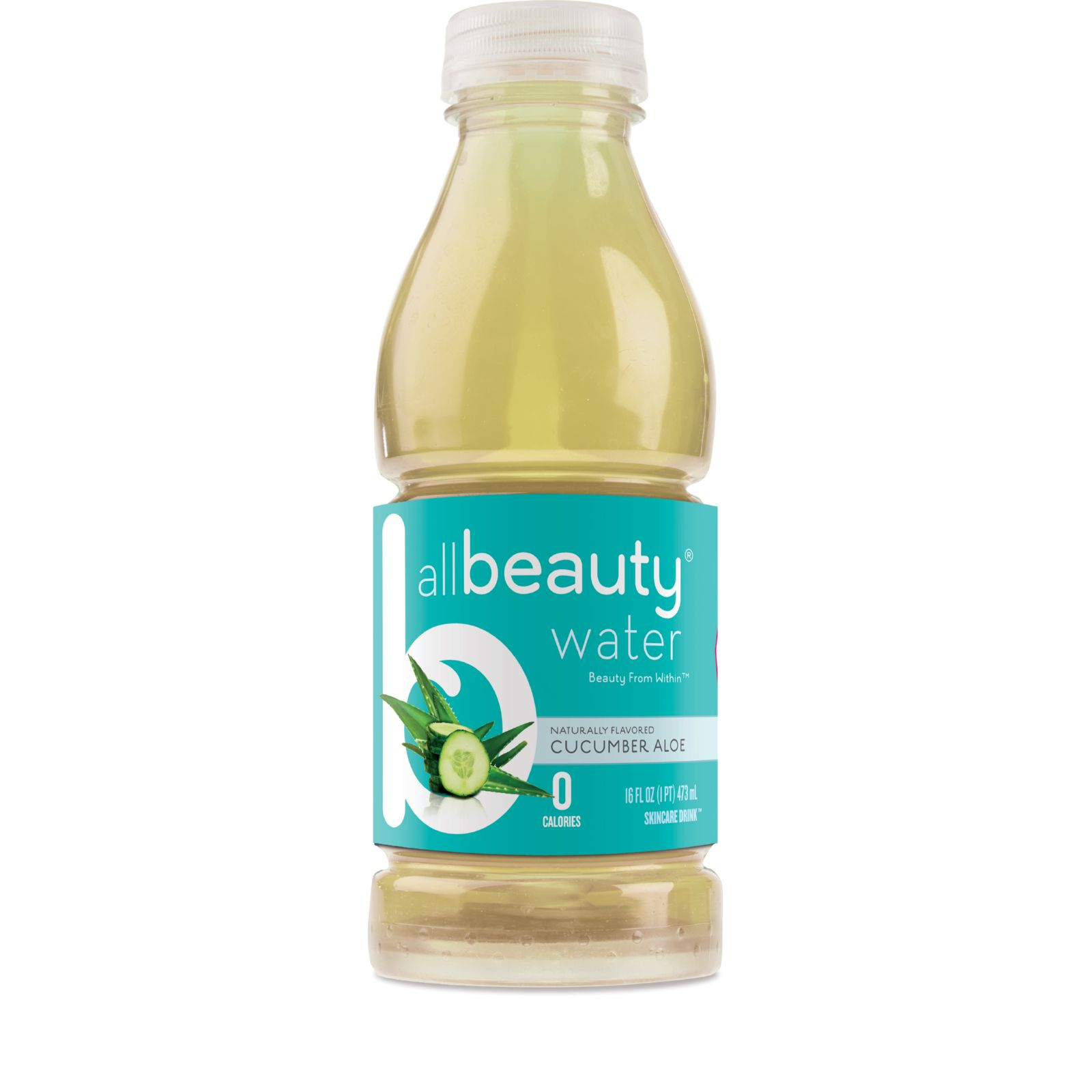 All Beauty Water Skincare Drink  Cucumber Aloe  16 oz  Case of 12
