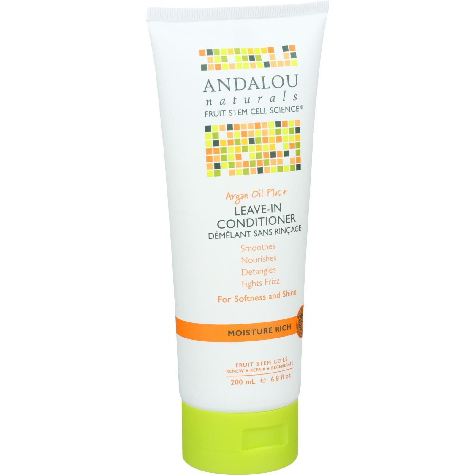 Andalou Naturals Conditioner  Moisture Rich Leave In  Argan Oil Plus  6.8 oz