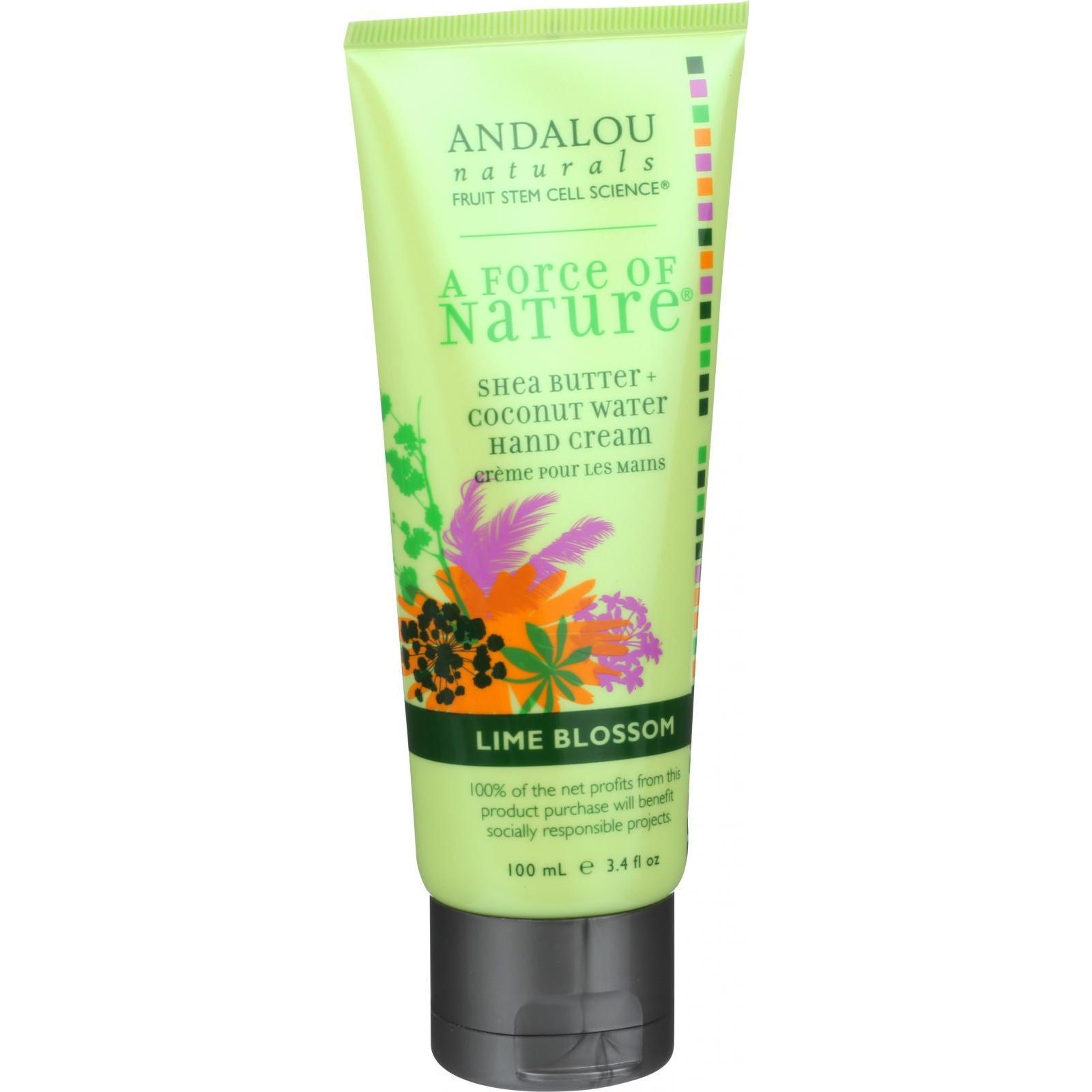 Andalou Naturals Hand Cream  A Force of Nature Shea Butter plus Coconut Water  Lime Blossom  3.4 oz