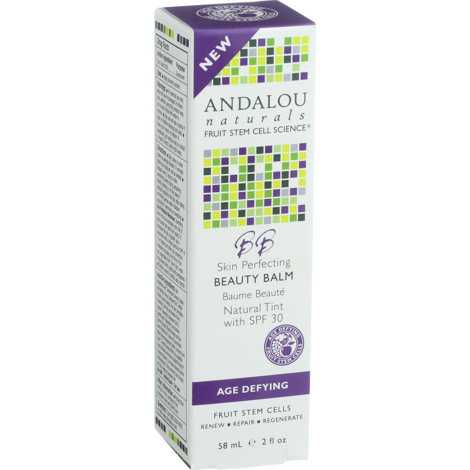 Andalou Naturals Skin Perfecting Beauty Balm  Natural Tint SPF 30  2 oz