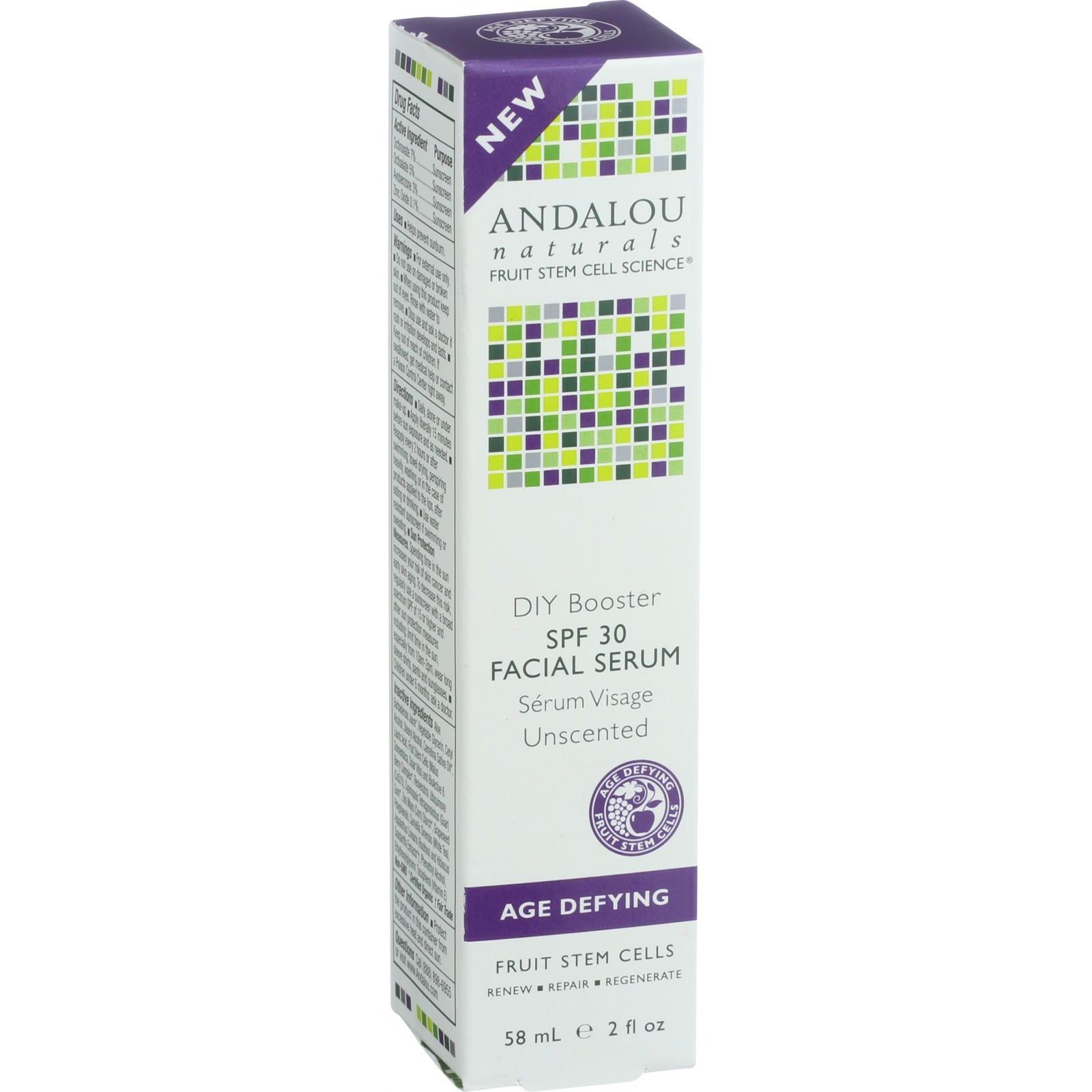 Andalou Naturals Facial Serum  DIY Booster SPF 30  2 oz