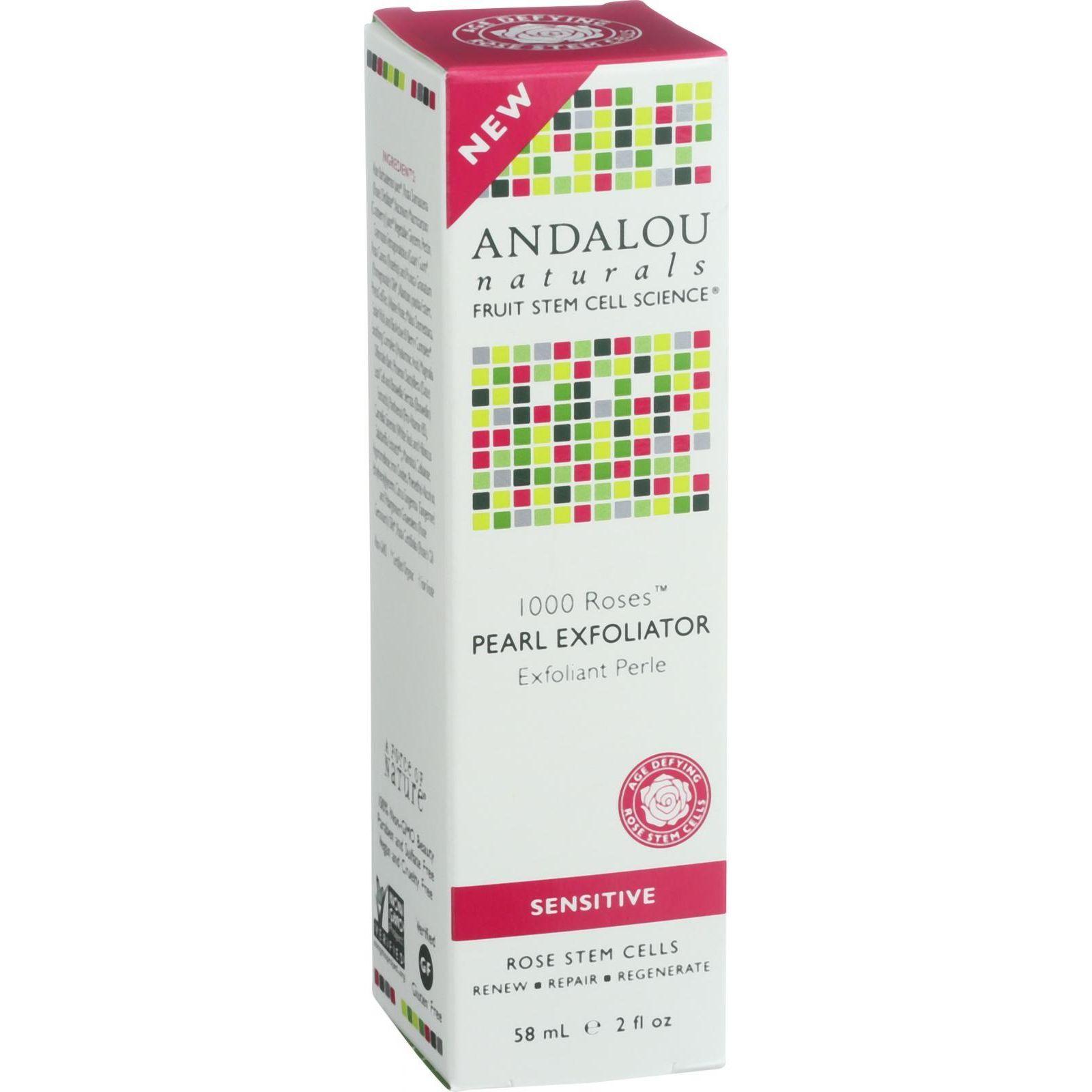Andalou Naturals Pearl Exfoliator  1000 Roses  2 oz