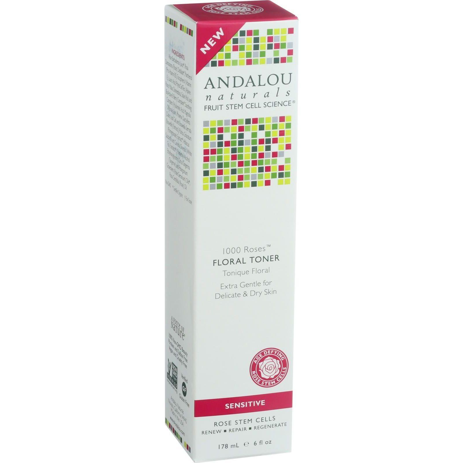 Andalou Naturals Floral Toner  1000 Roses  6 oz