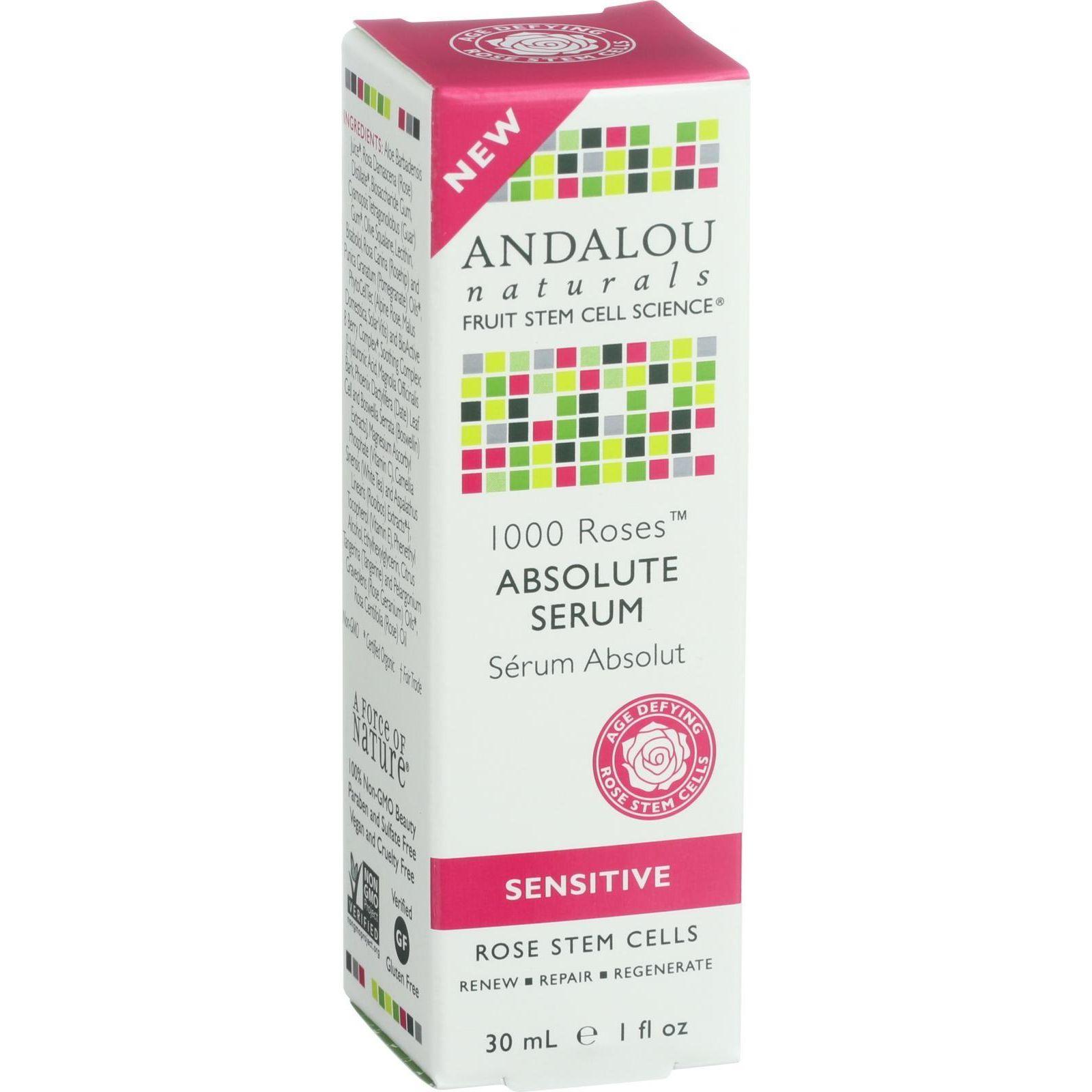 Andalou Naturals Absolute Serum  1000 Roses  1 oz