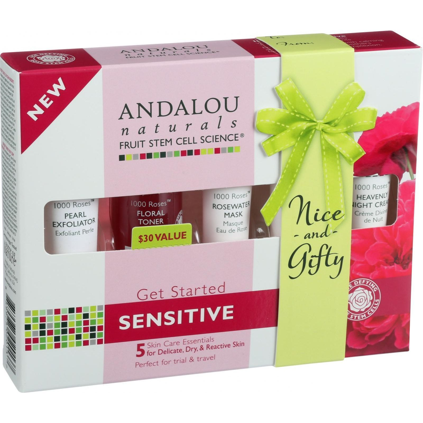 Andalou Naturals Get Started Kit  1000 Roses  5 Pieces