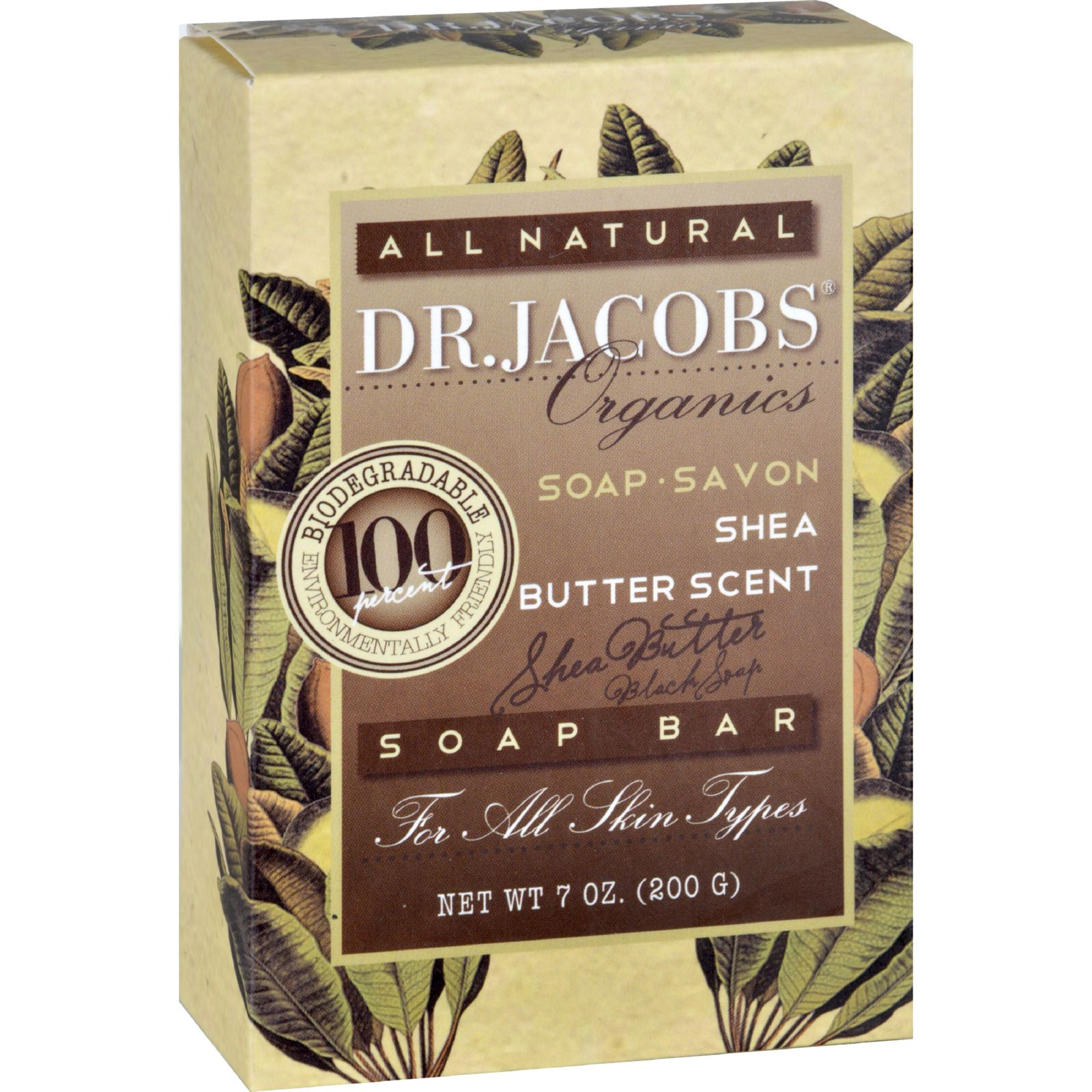 Dr. Jacobs Naturals Bar Soap Castile Shea Butter 6.5 oz